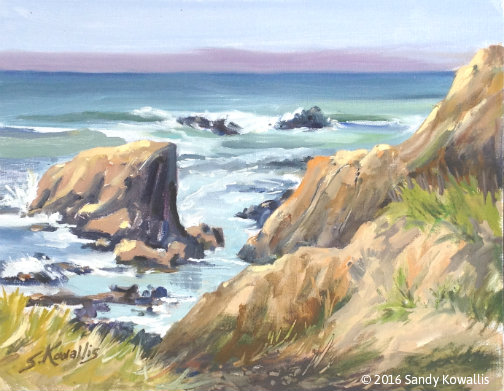 Path to the Beach - oil 11 x 14