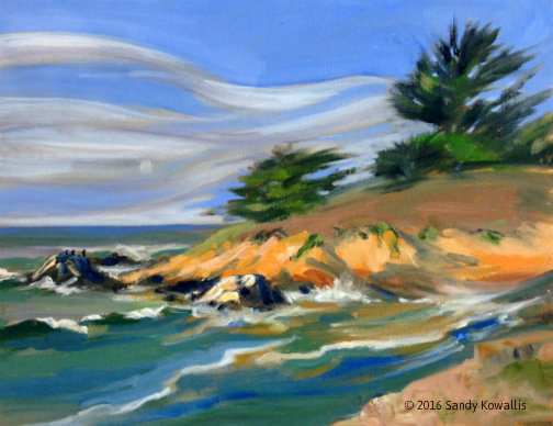 Windswept - oil 11 x 14