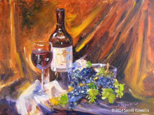 Zinfandel Harvest - oil 12 x 16