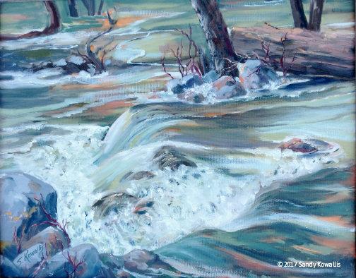 Roaring Runoff From Chilnualna Falls - oil - 16 x 20