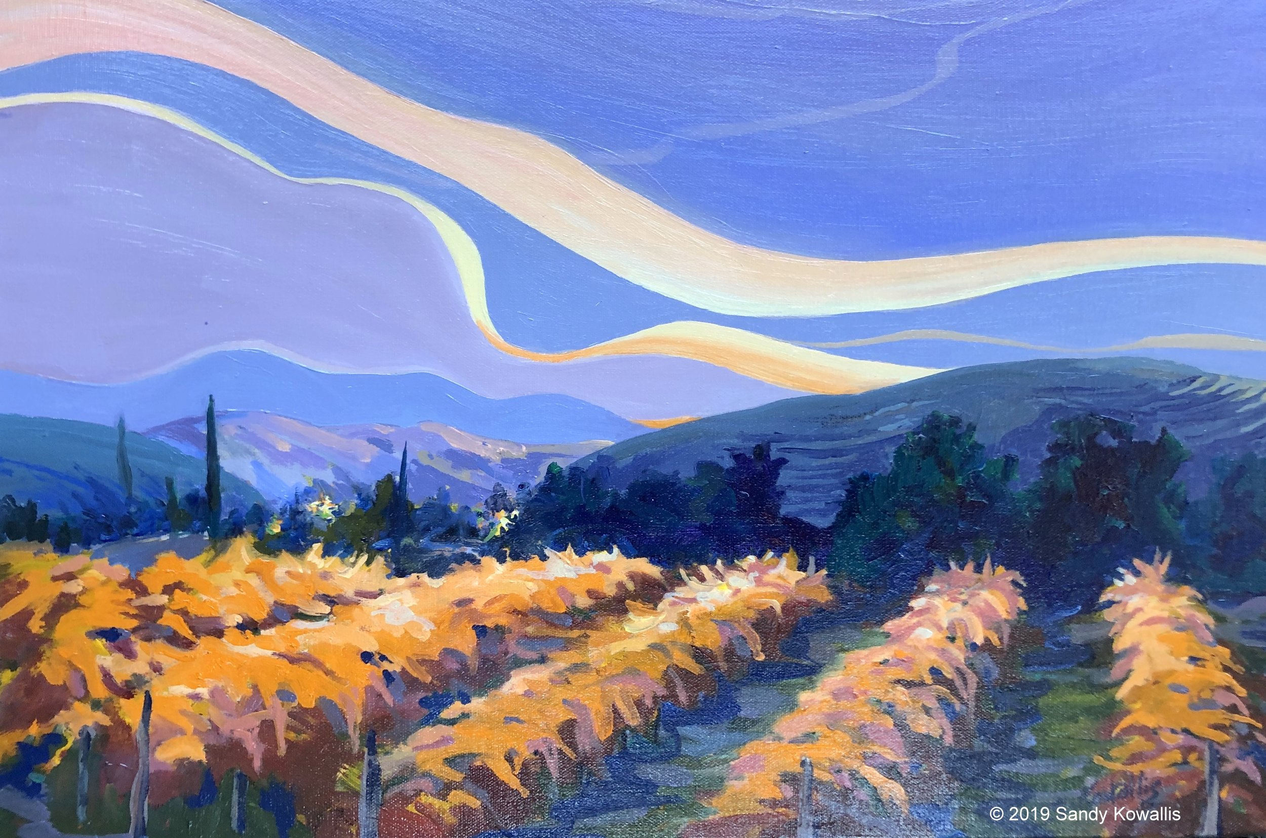 """""""Beyond the Harvest"""" oil 18"""" x 24"""" gallery wrap"""