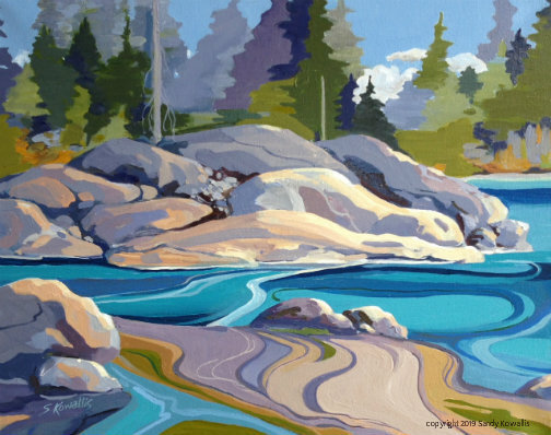 """""""Colours and Contours Shaver Lake"""" oil 16"""" x 20"""""""
