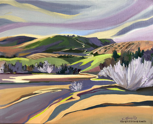 """""""Colours and Contours San Joaquin Valley"""" oil 16"""" x 20"""""""