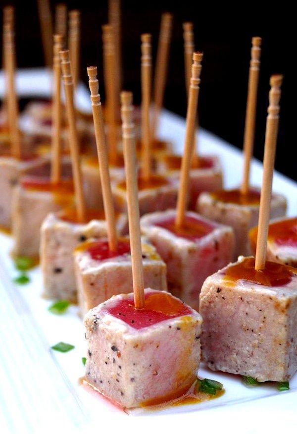 Wasabi Glazed-Seared Ahi Tuna