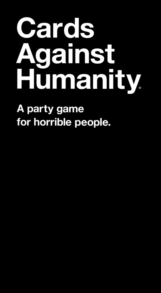 Cards Against Humanity board game box cover art