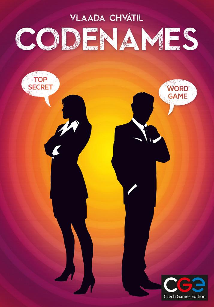 Codenames board game box cover art