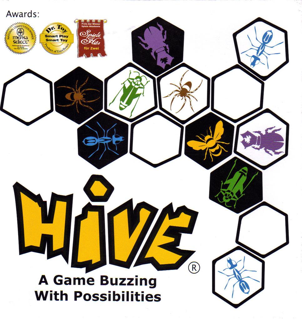 Hive board game box cover art