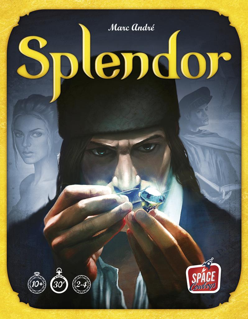 Splendor board game box cover art