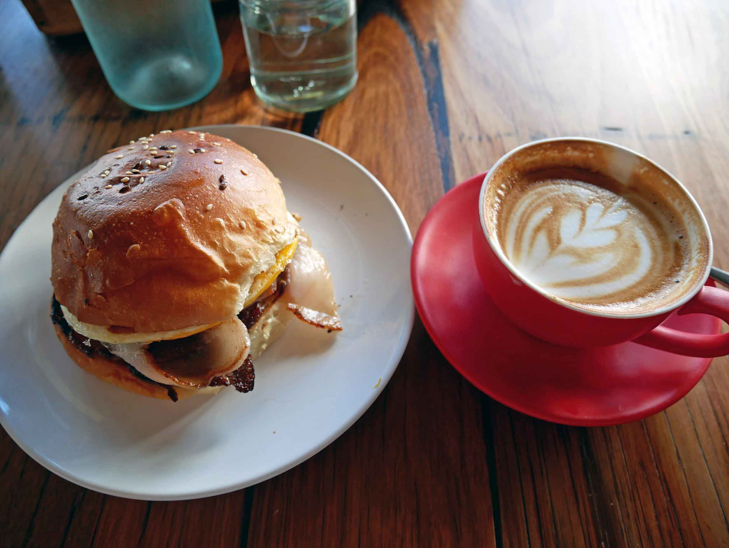 The bacon and egg on a roll (smothered in BBQ sauce) was melt-in-your-mouth goodness (Jan 24).