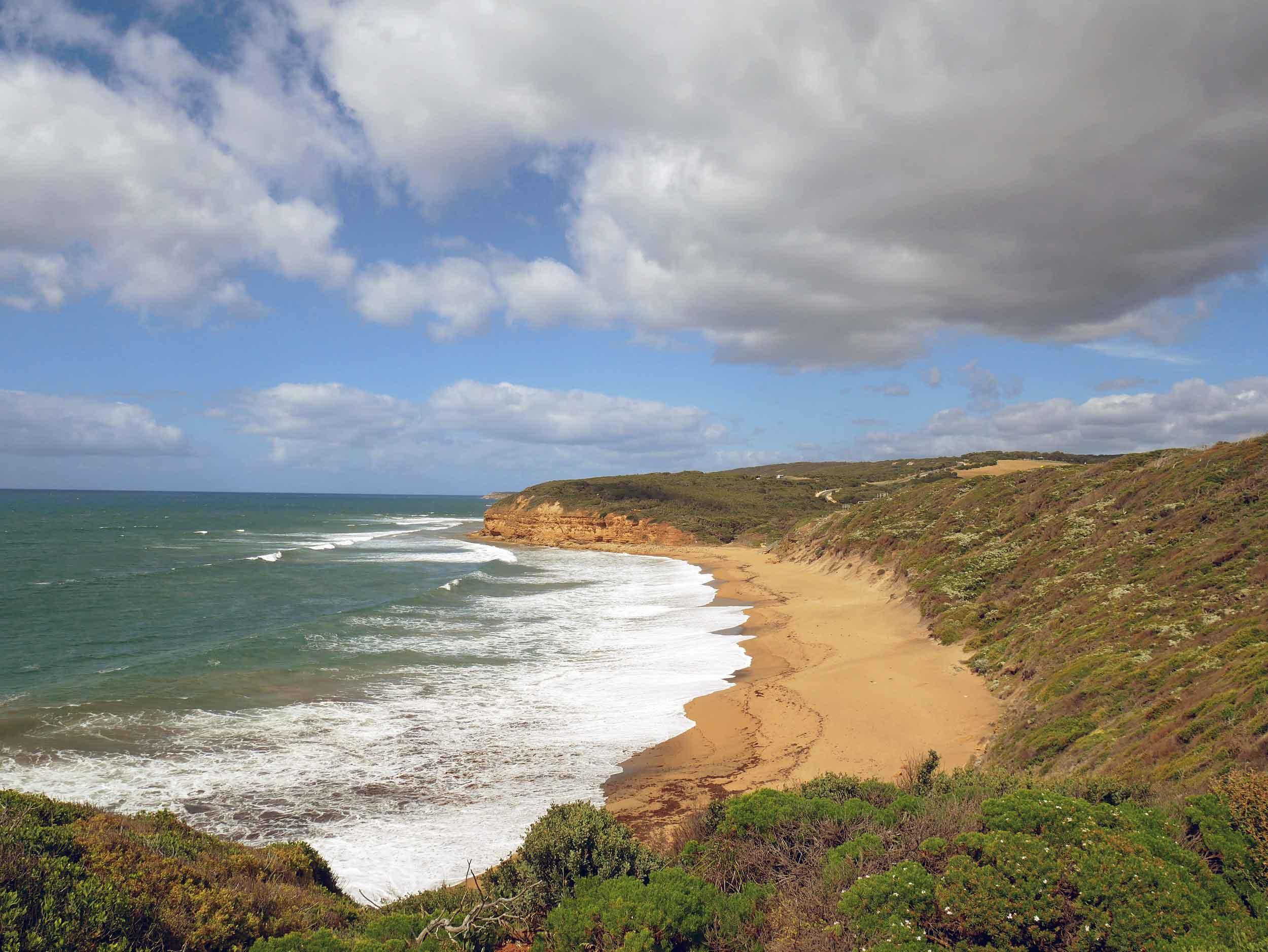 Bells Beach is a surfer's paradise (Jan 24).