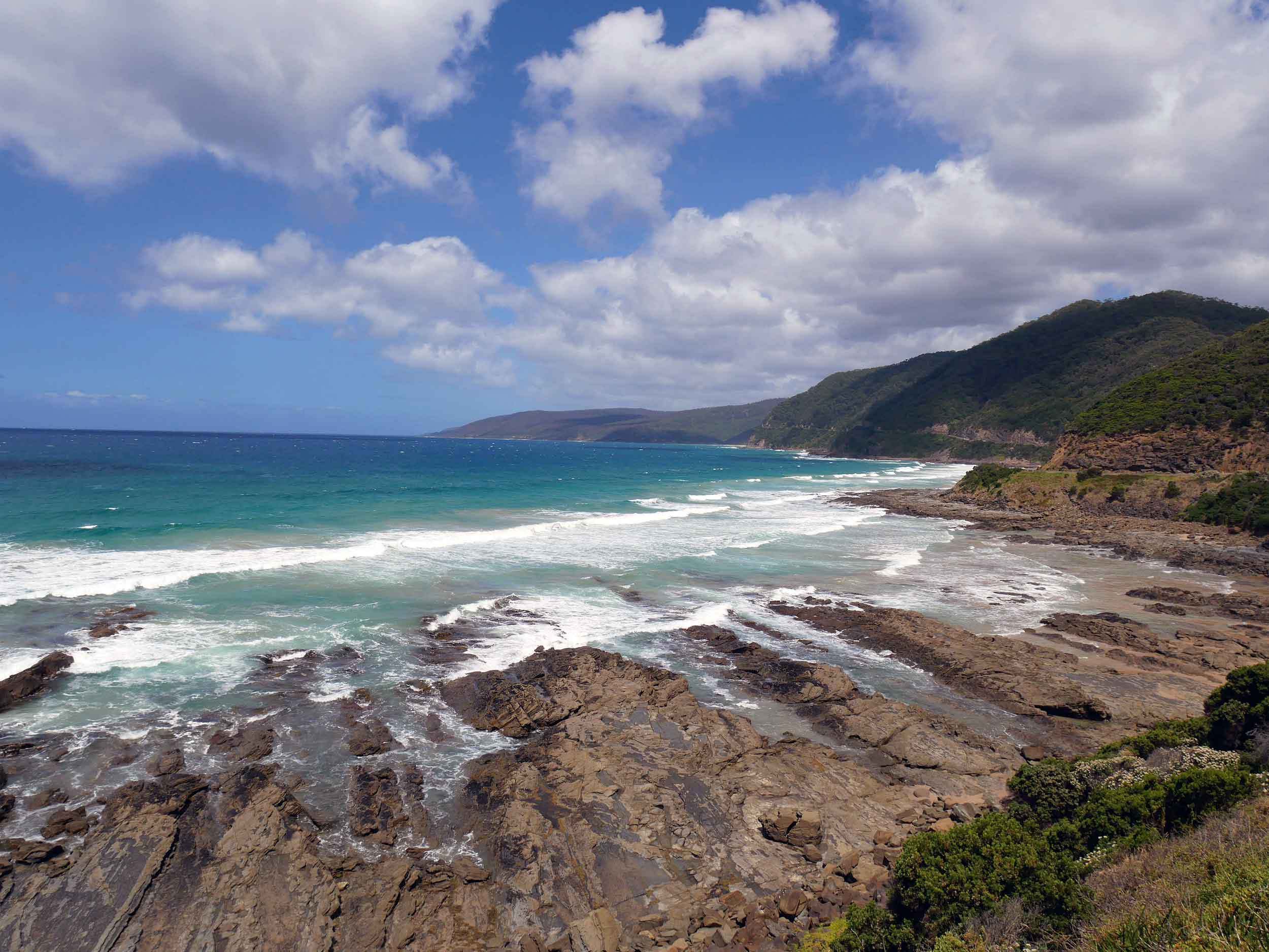 Another scenic vantage on the Great Ocean Road (Jan 24).