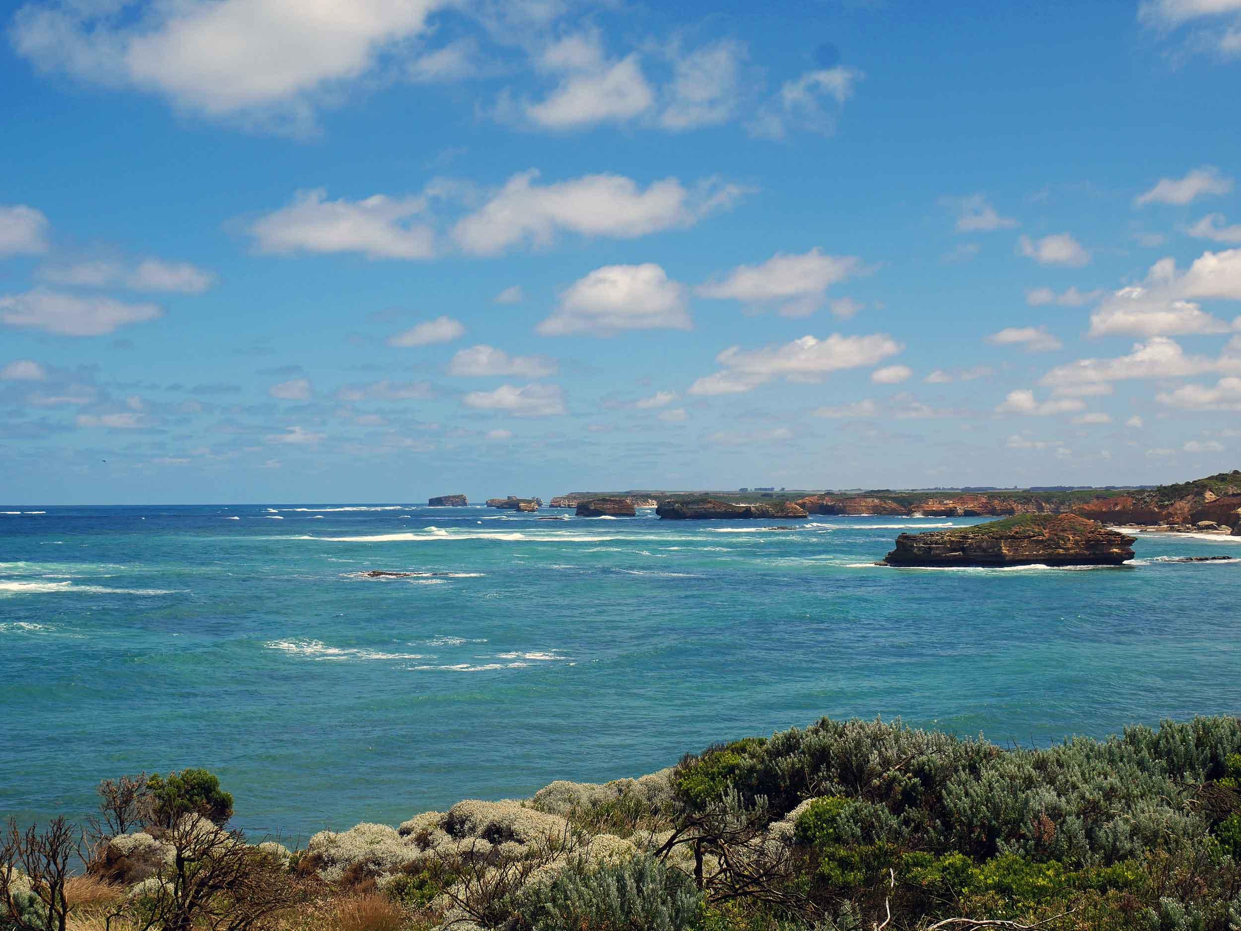 The islands dot the coastline for 23 km (Jan 25).