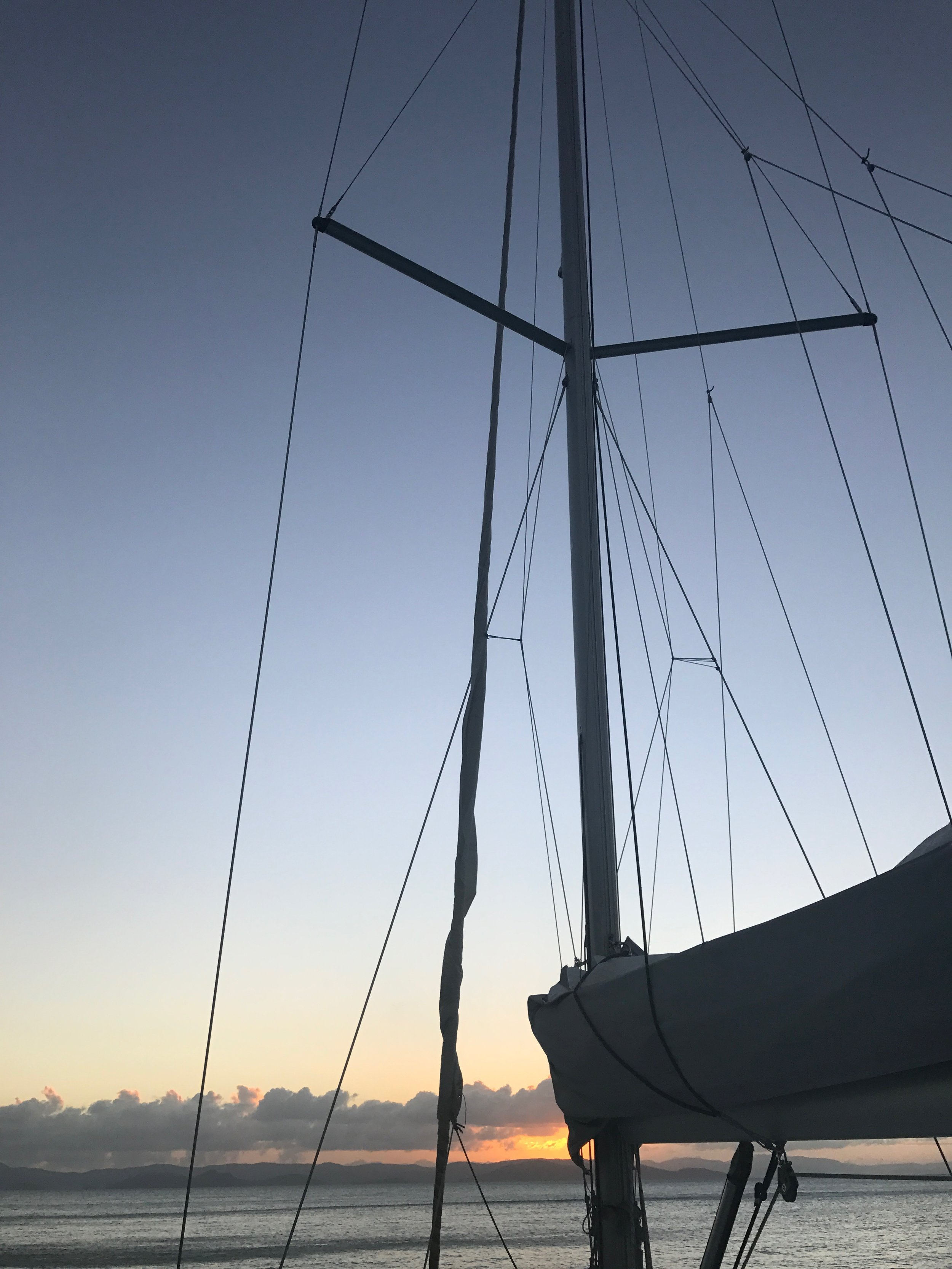 We flew to Hamilton Island and then took a ferry to Airlie Beach, where we boarded 'The Blizzard' for a 2-day sail through the Whitsundays (Jan 29).