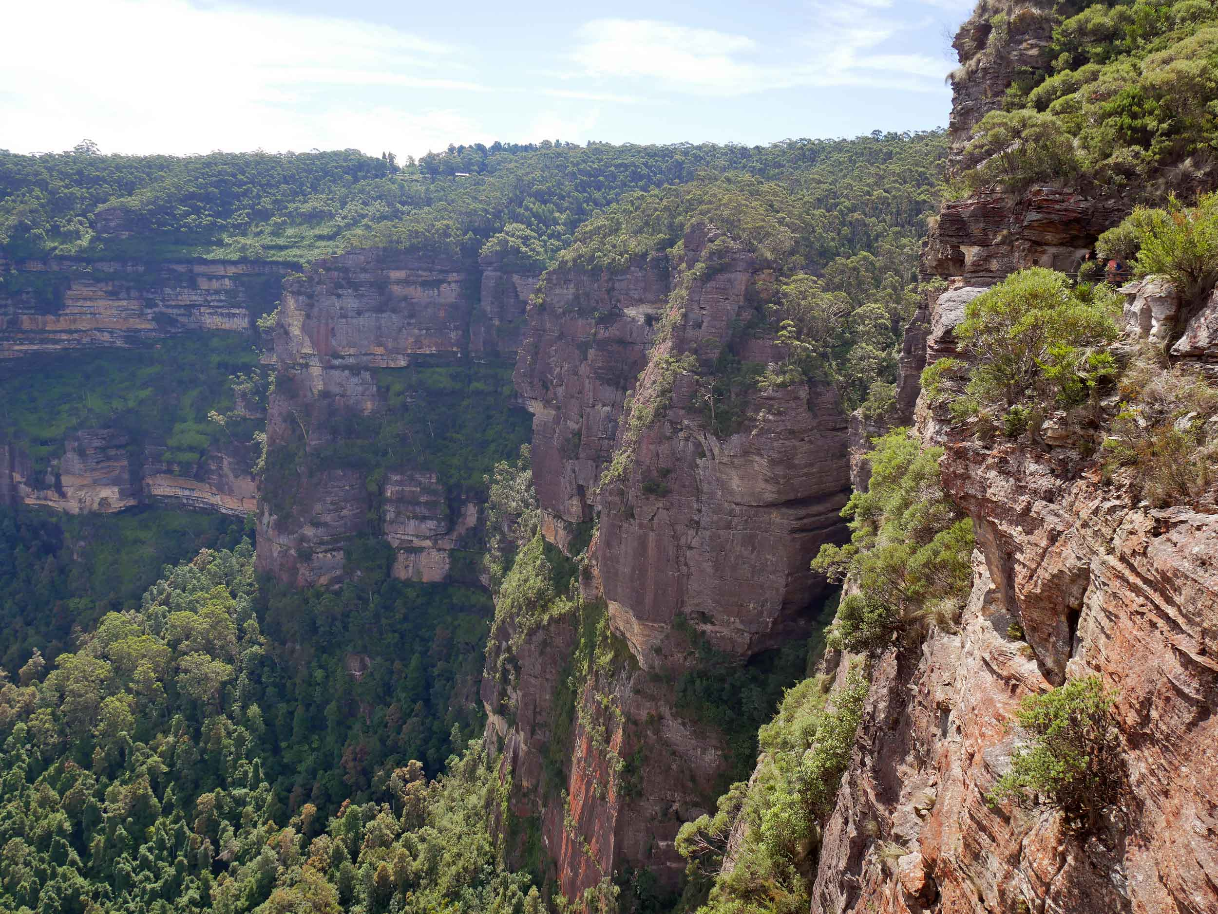 The Blue Mountains are home to about 1,000 canyons and Australia's greatest known number of slot canyons (deep, narrow trenches formed by running water) (Feb 2).
