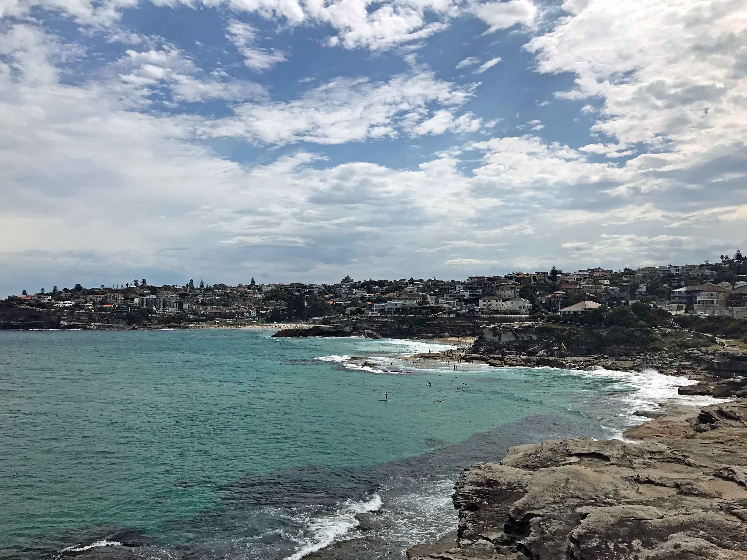 The Bondi coast walk, from Bondi Beach to Coogee offers scenic views and several beaches in-between (Feb 5).