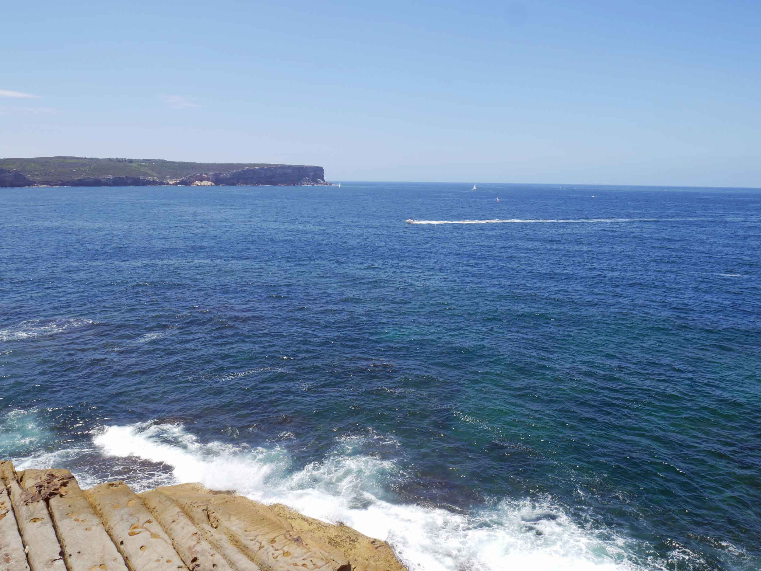 Looking across to Manly, which frames the Harbour entrance (Feb 4).