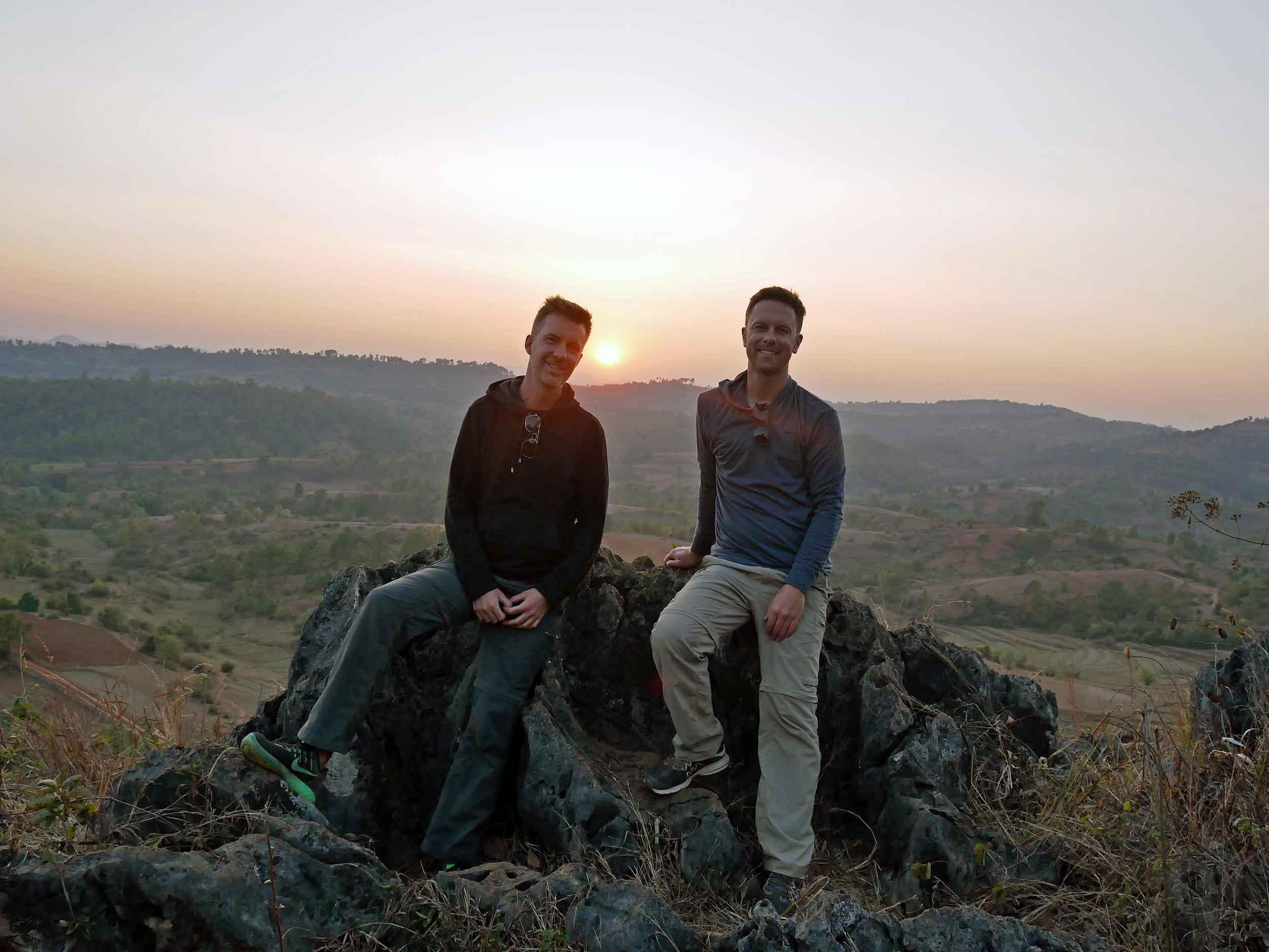 After a daylong trek, sunset near Pattu Pauk village provided time for reflection and rest (Feb 20).