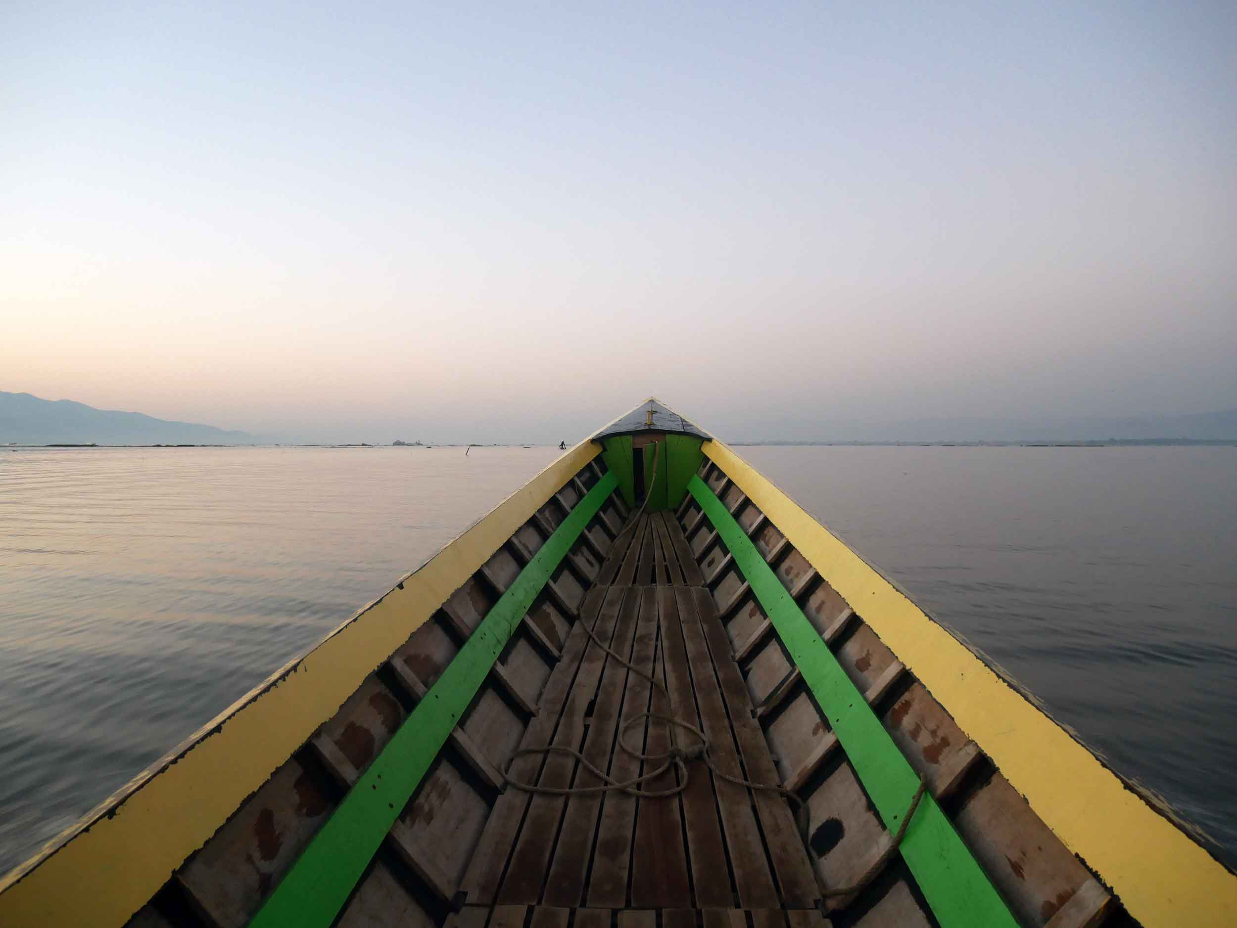 Another early rise as we took a long boat to watch the fishermen at sunrise and spend a day exploring Inle Lake (Feb 22).