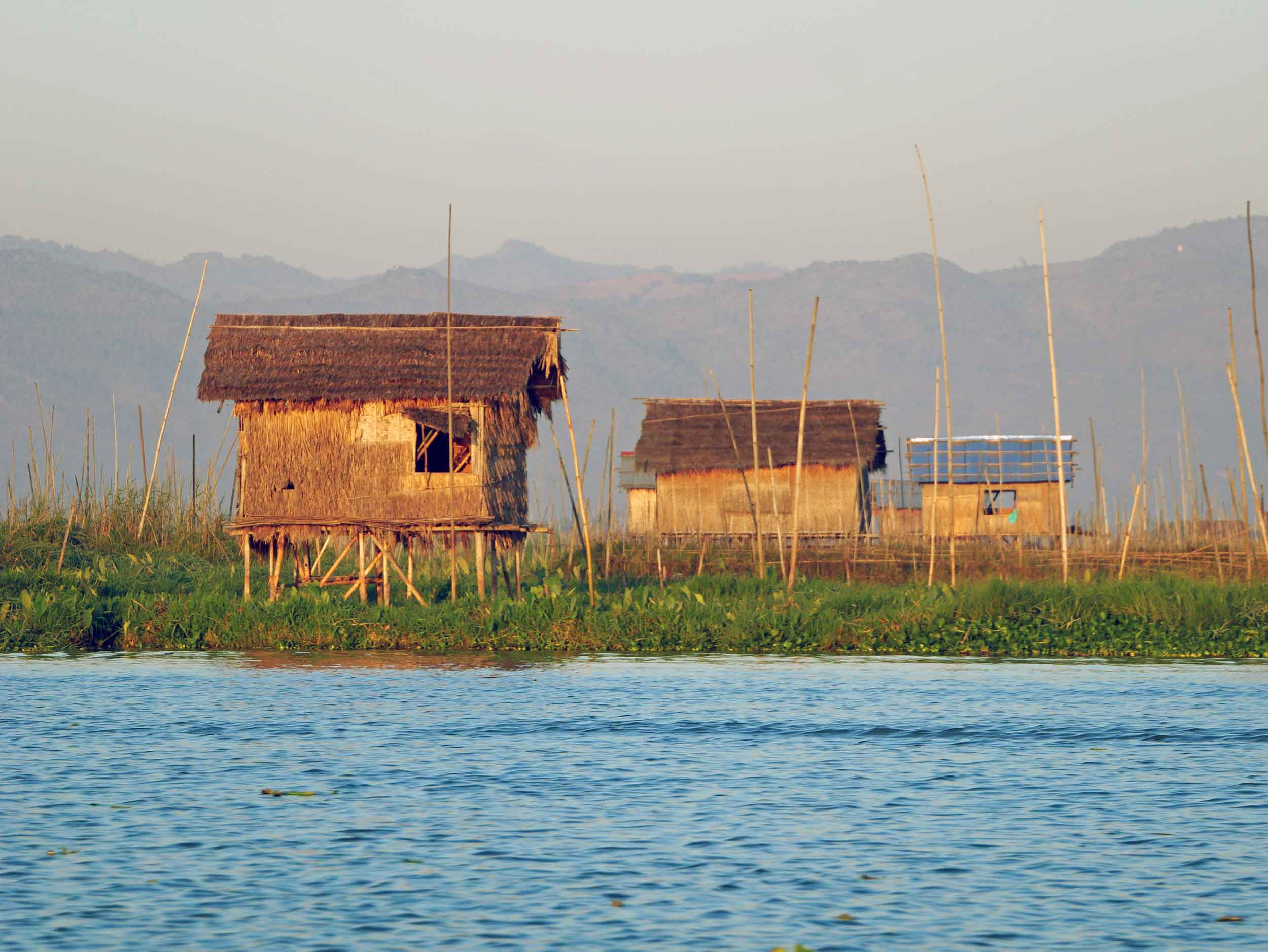 Inle Lake is Myanmar's answer to Venice, with long tail boats and kayaks used for daily commute (Feb 21).