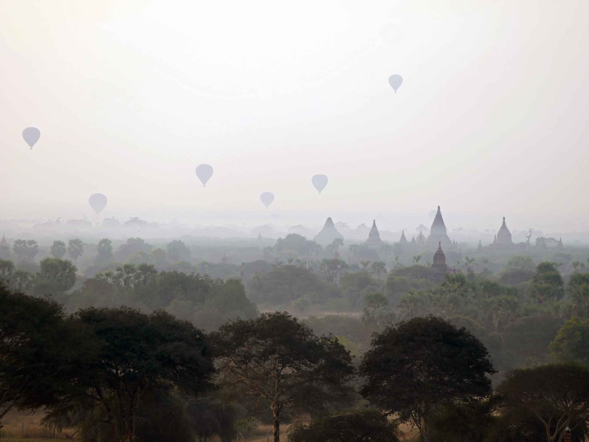 For a unique experience, some choose to rise with the sun in a hot air balloon (Feb 15).