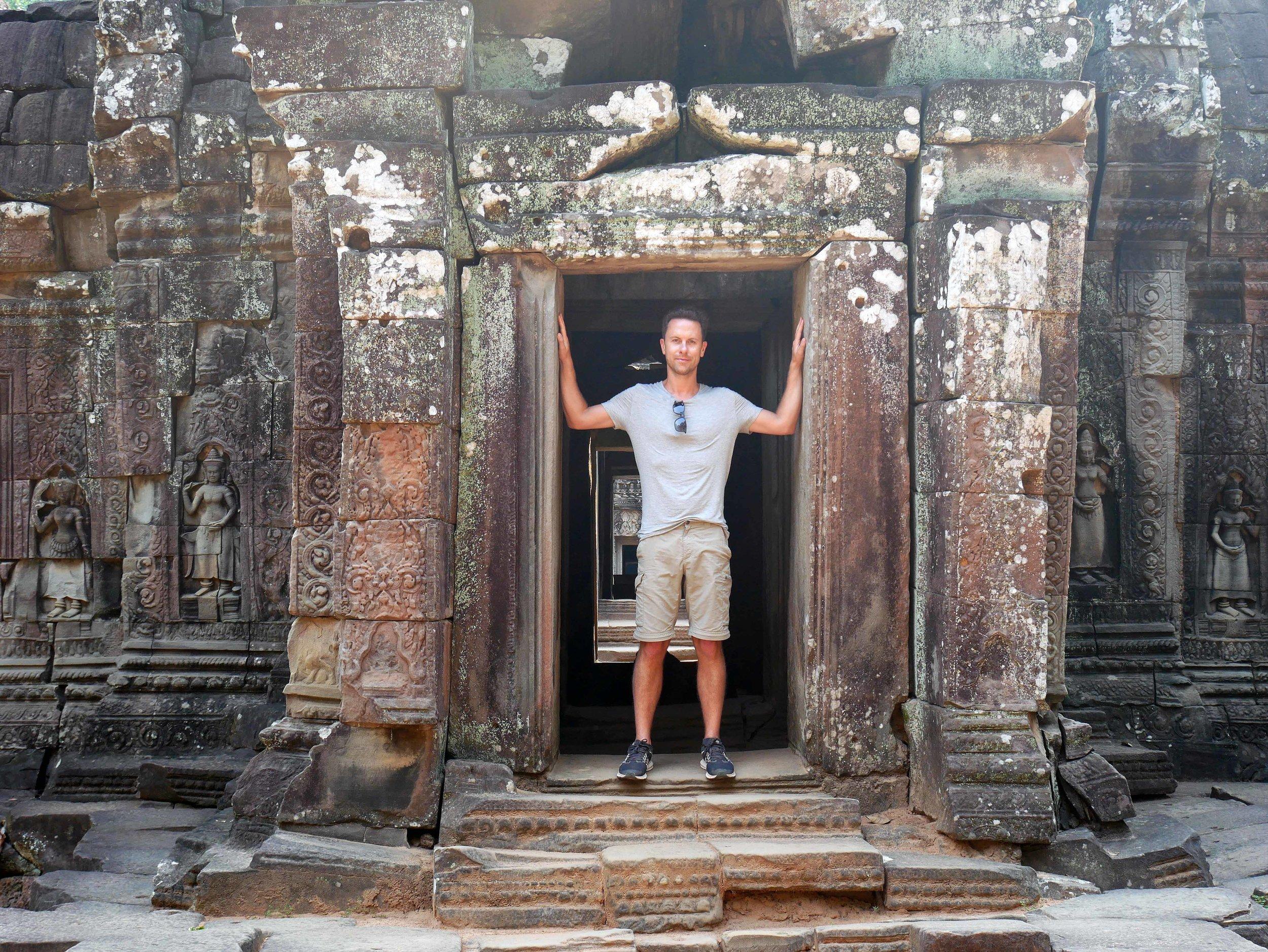 Martin taking in the crumbling ruins of Ta Som (Feb 27).