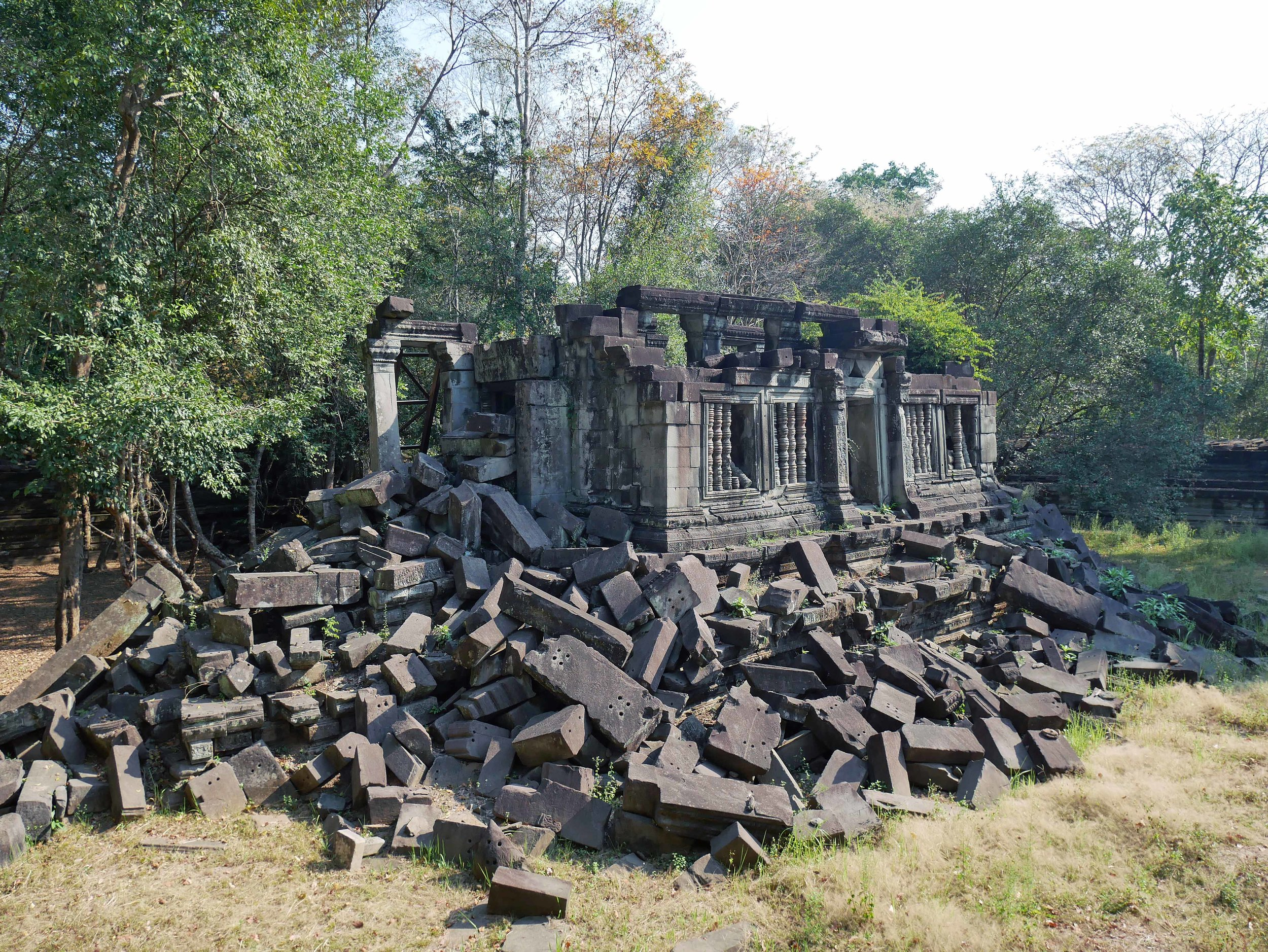 """Beng Mealea, which means """"lotus pond"""" in Khmer, is an 1.5-hour drive from the main temples of Siem Reap... or even longer if you chose to visit via tuk-tuk (March 1)."""