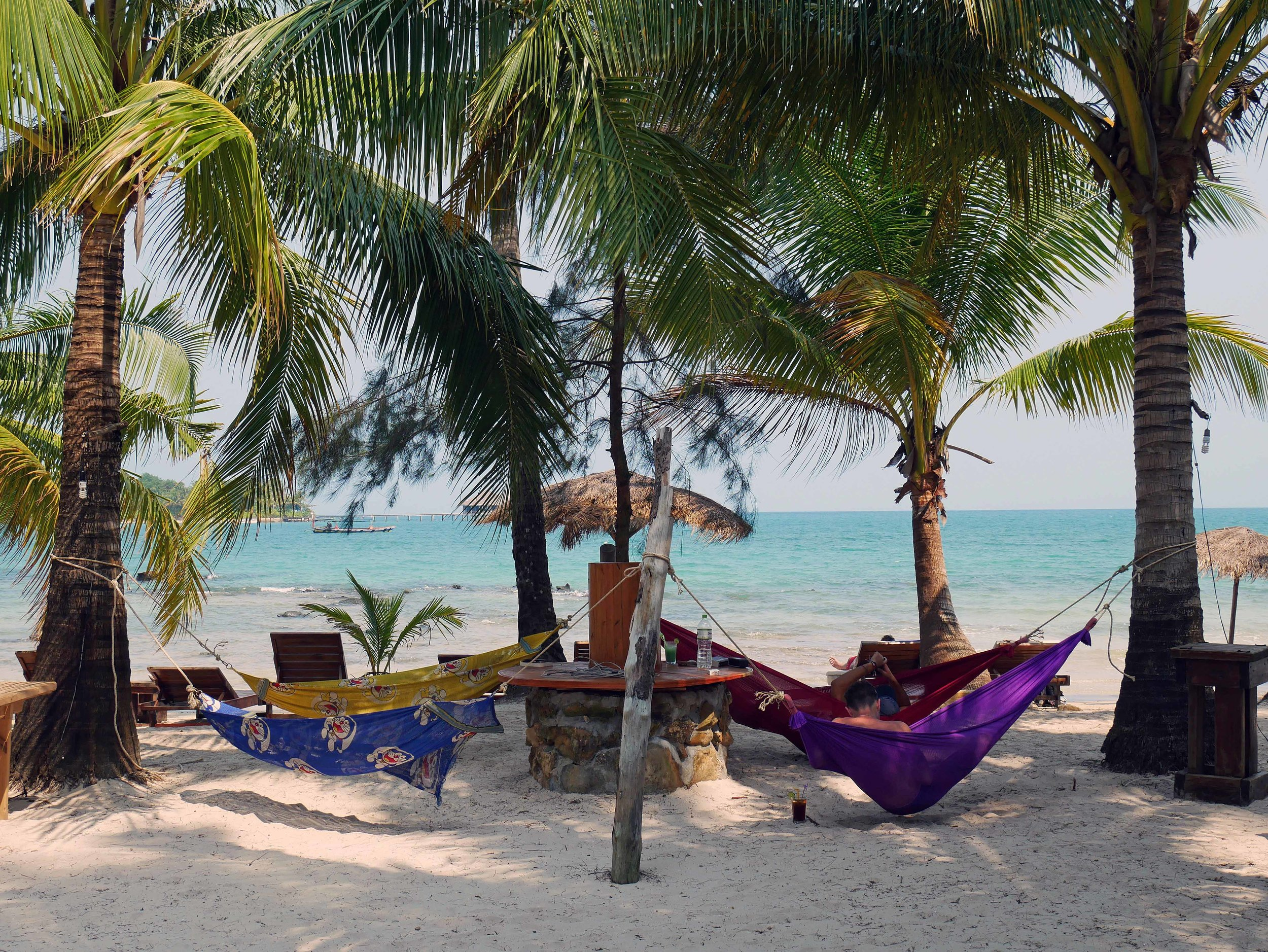Surrounded by beaches on either side, we found respite in the isolation of Palm Beach Bungalows (March 2-9).