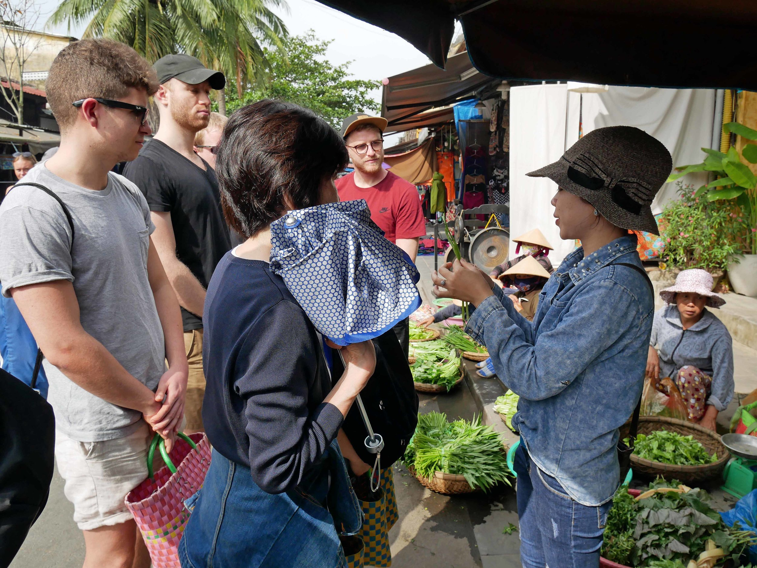 Our cooking class started with a shopping trip to the Hoi An Market where our guide showed us locally grown and sourced products (March 17).