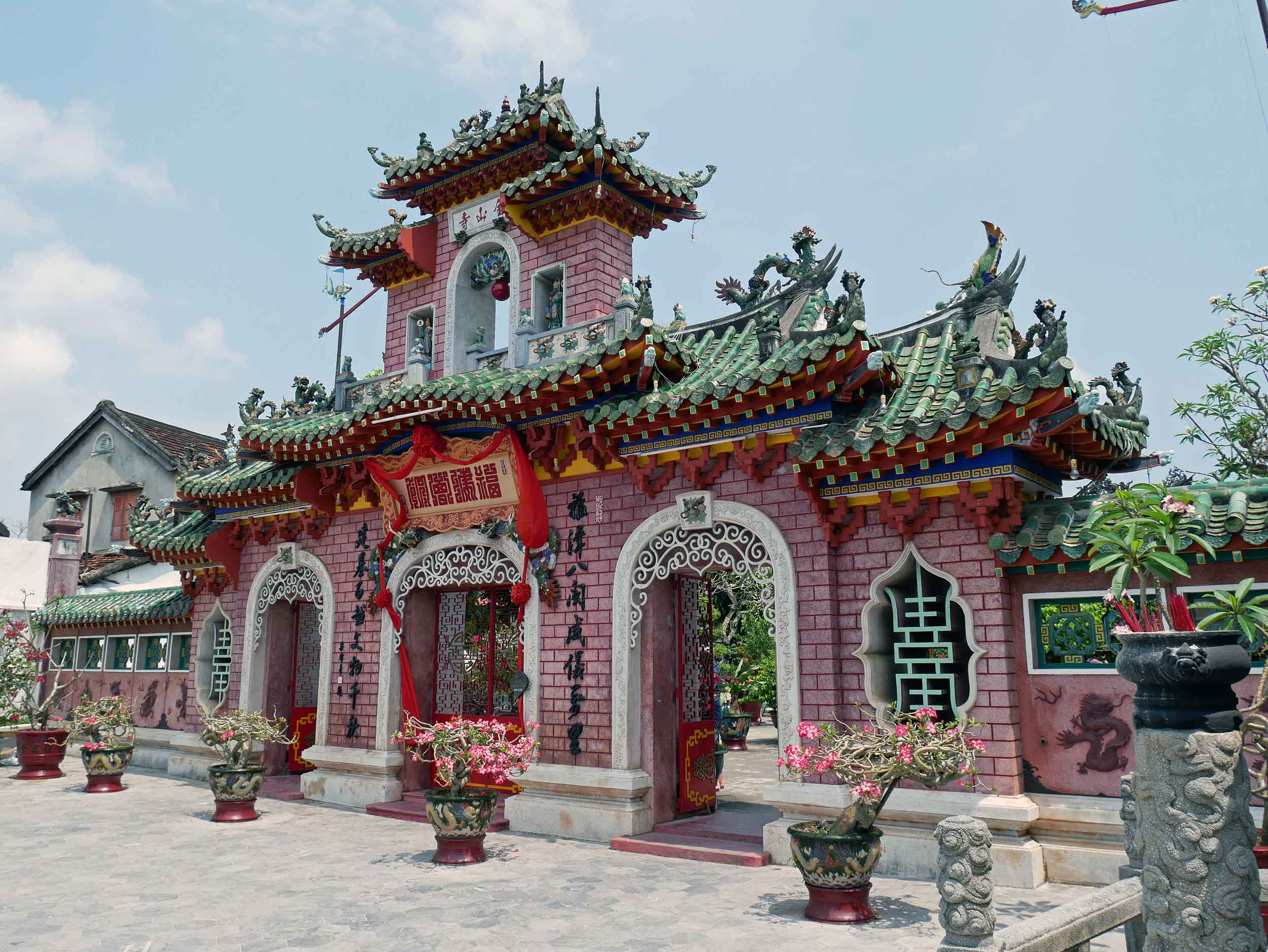 The grand Phuc Kien Assembly Hall was built of Chinese architecure in the late 1600s.