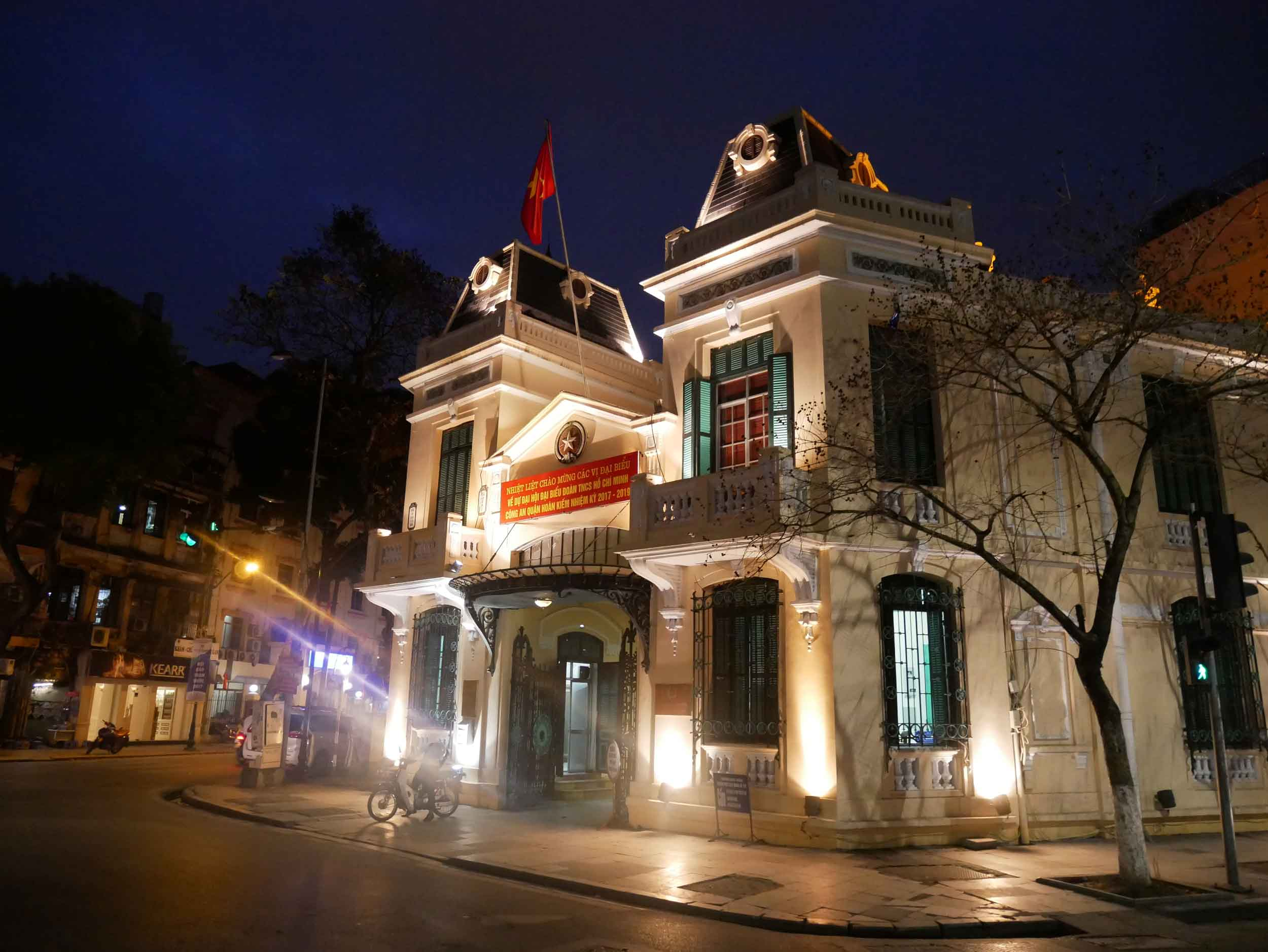 Like Ho Chi Minh, Hanoi features colonial buildings throughout the city.