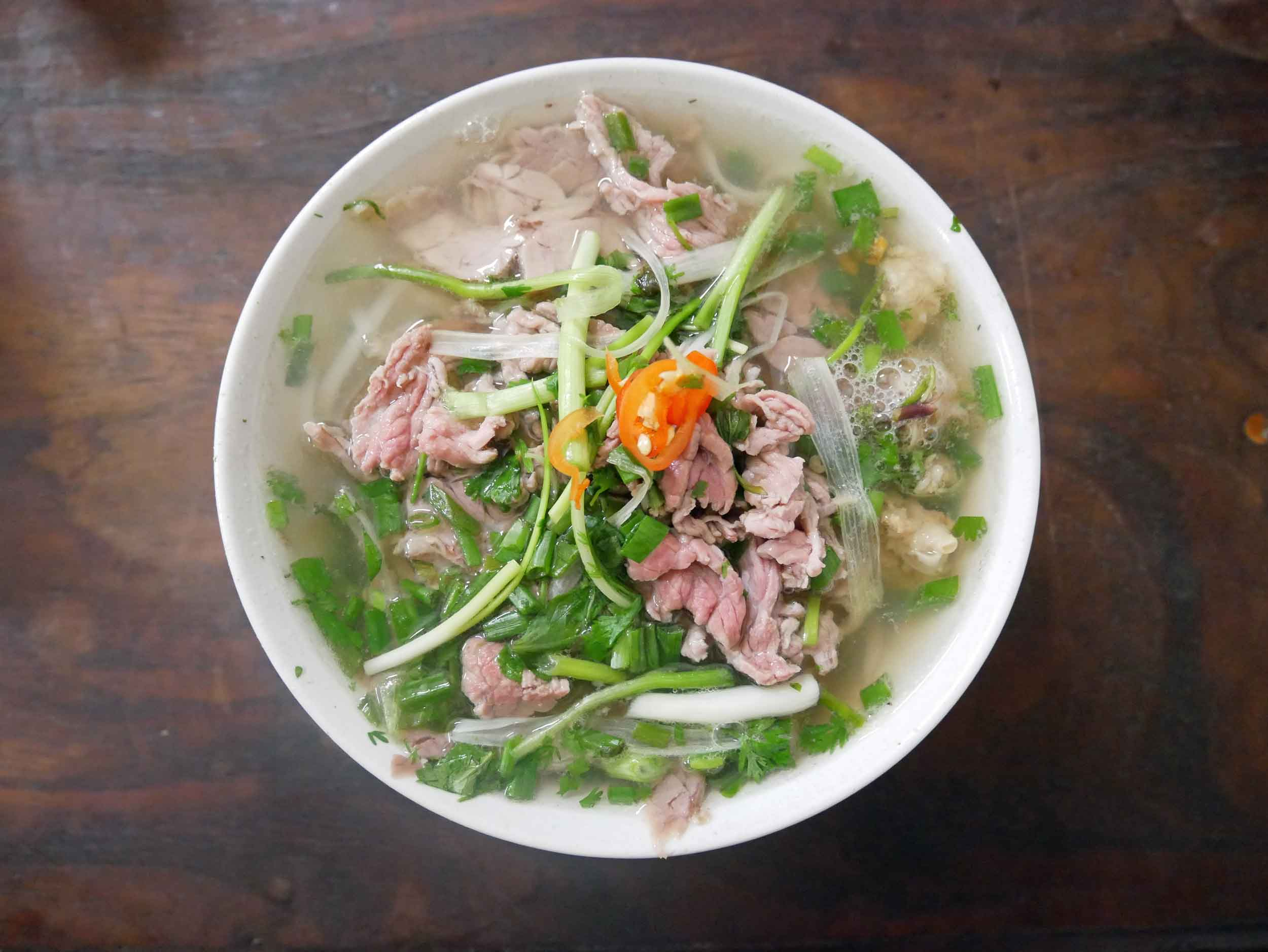 The Pho in Hanoi is clearer and brighter than the Pho we found in the South.