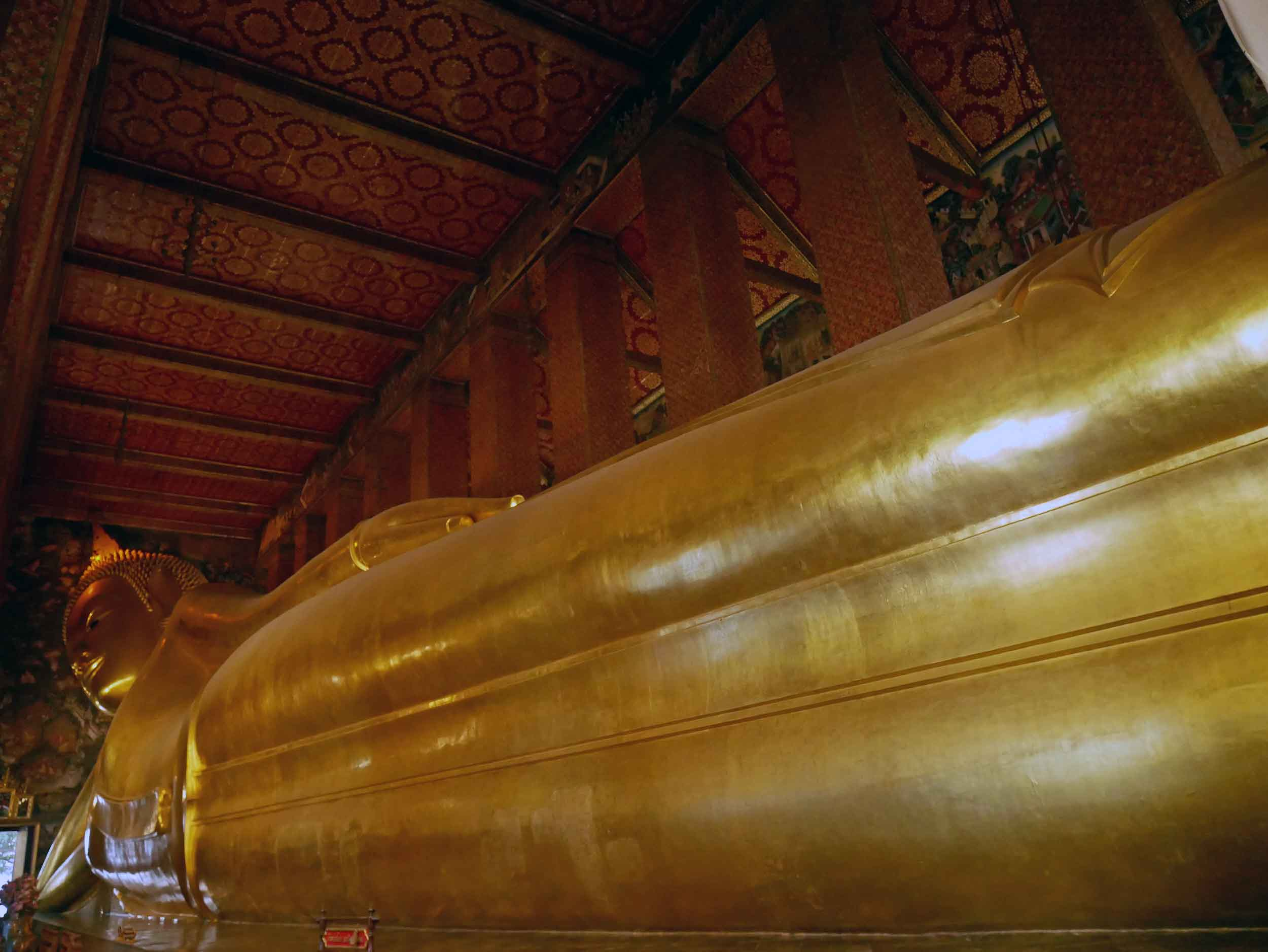 Featuring many sacred Buddha images, Wat Pho is best known for the 46 metre long reclining Buddha.
