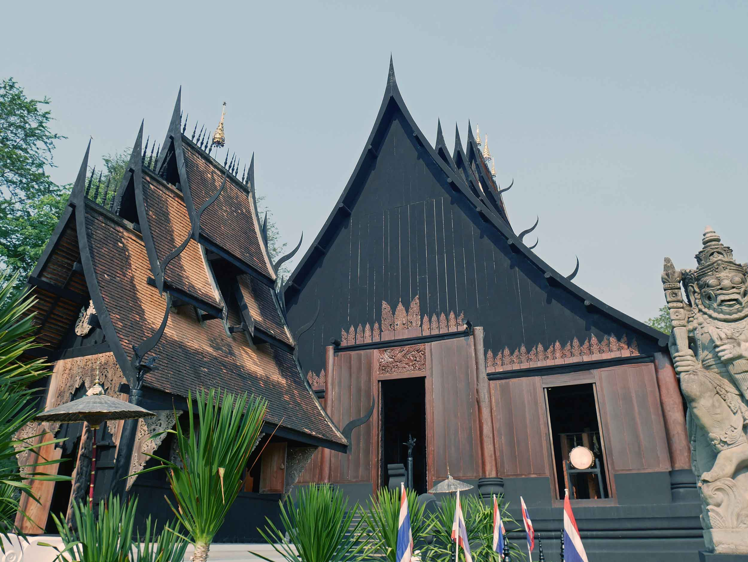 Entrance and main display building at Black House, or Baan Dam Museum, featuring the works of Thai national artist, Thawan Duchanee.