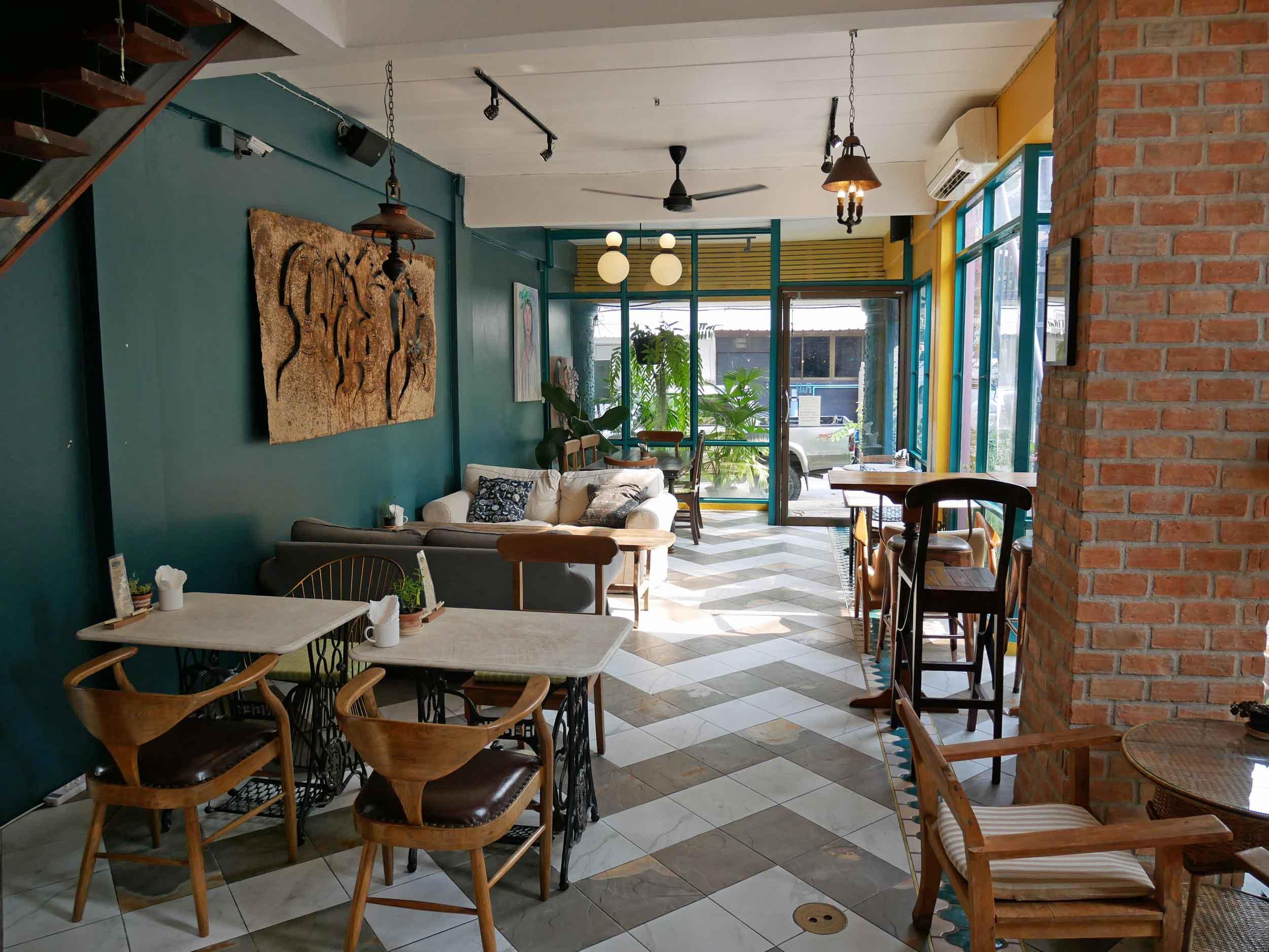 My Secret Cafe is a beautiful, cozy spot to enjoy a light breakfast or iced coffee.