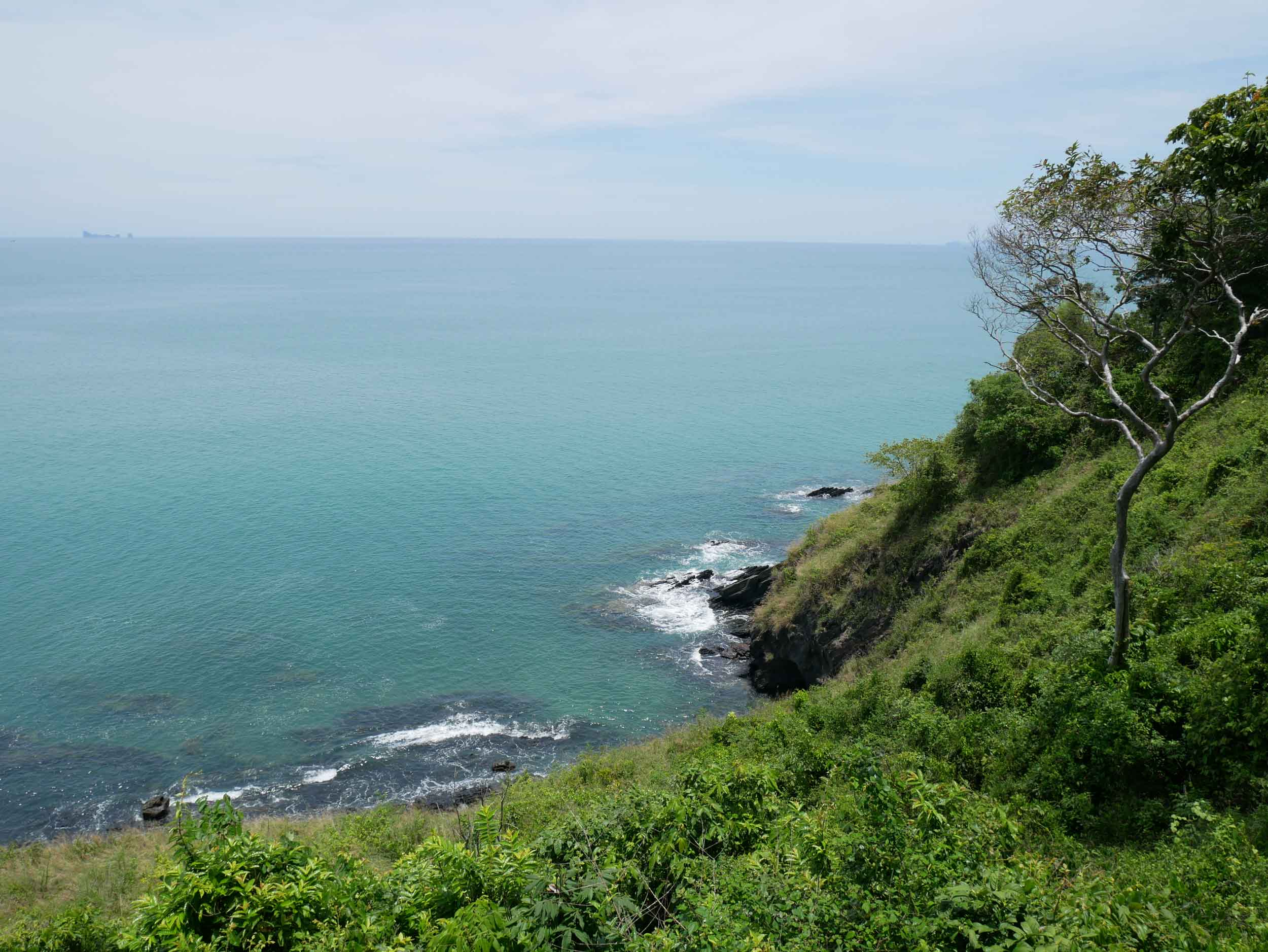 View from Noon Restaurant, which overlooks Nui Bay near the southern tip of Koh Lanta.