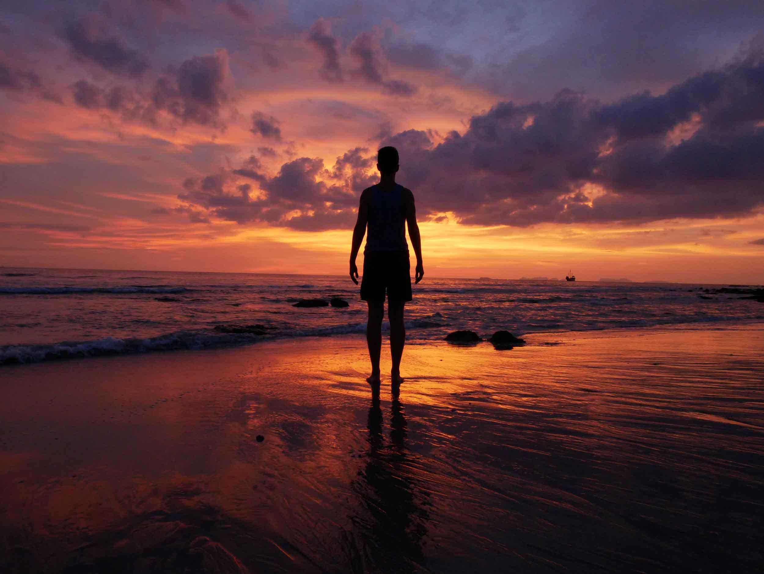 Taking in one of the magical sunsets on Klong Nin Beach, Koh Lanta.