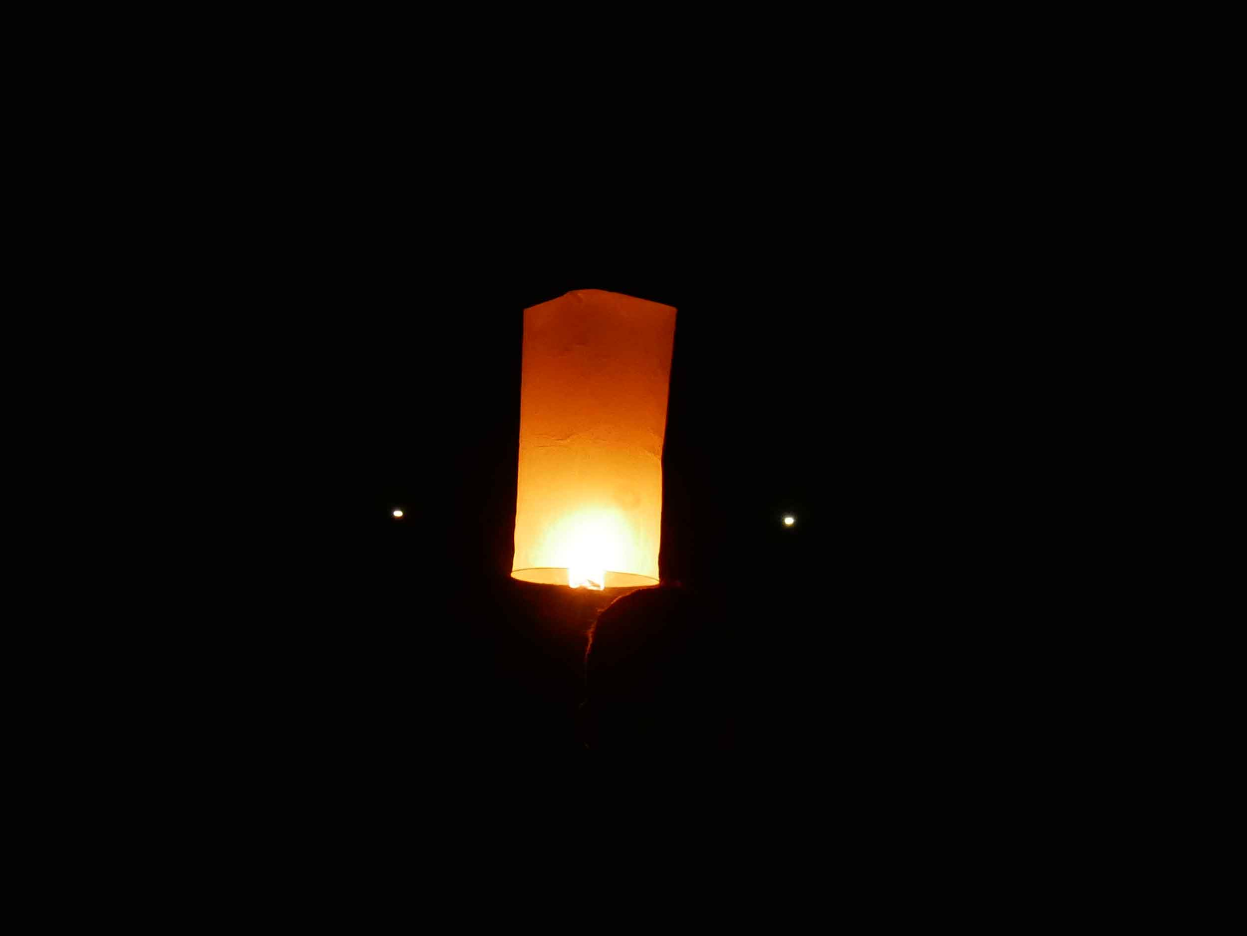 On our final night on Ko Lanta, we released floating lanterns into the night sky.