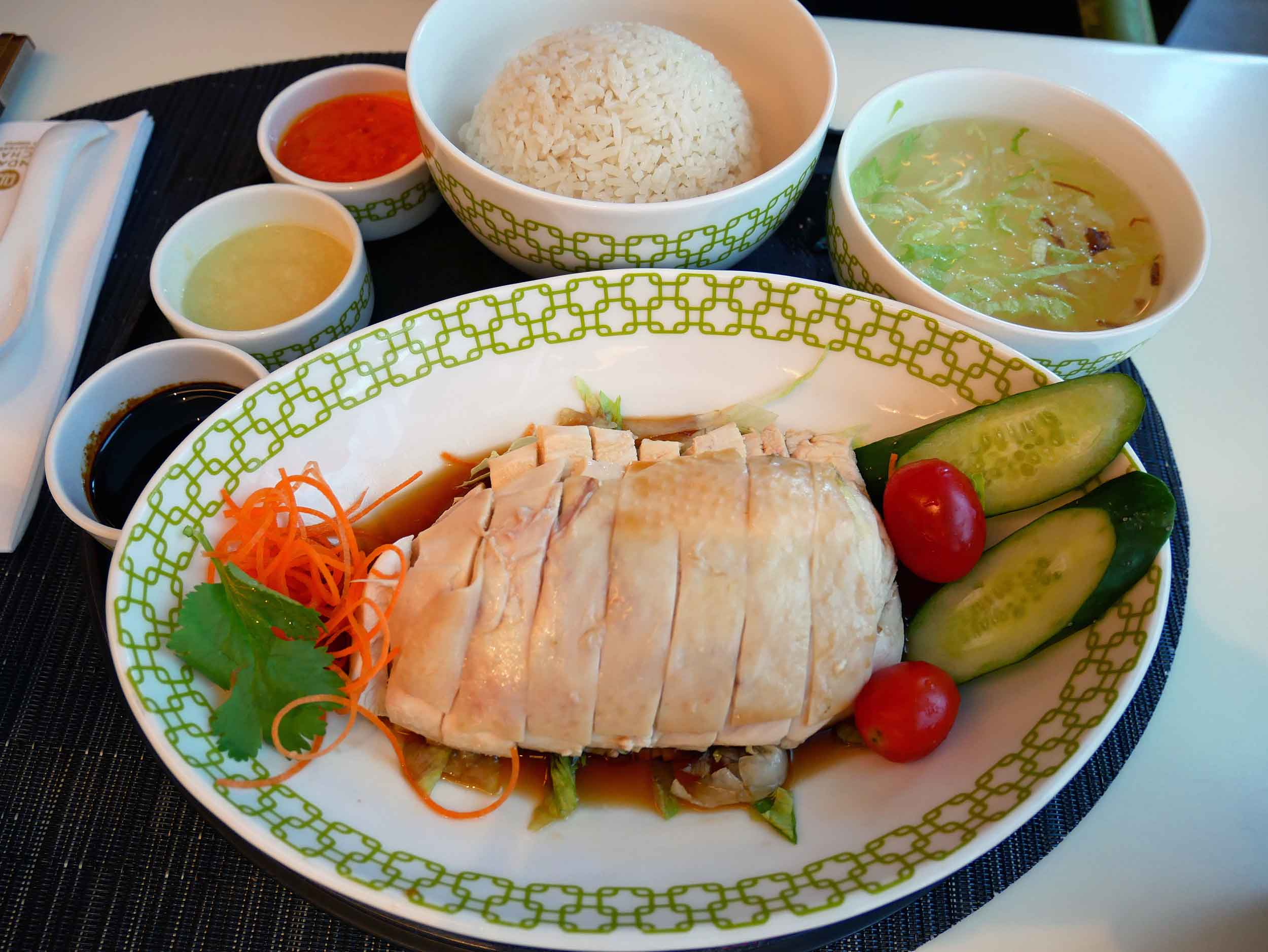 The famous Hainan Chicken Rice at Chatterbox was our first taste of Singapore.