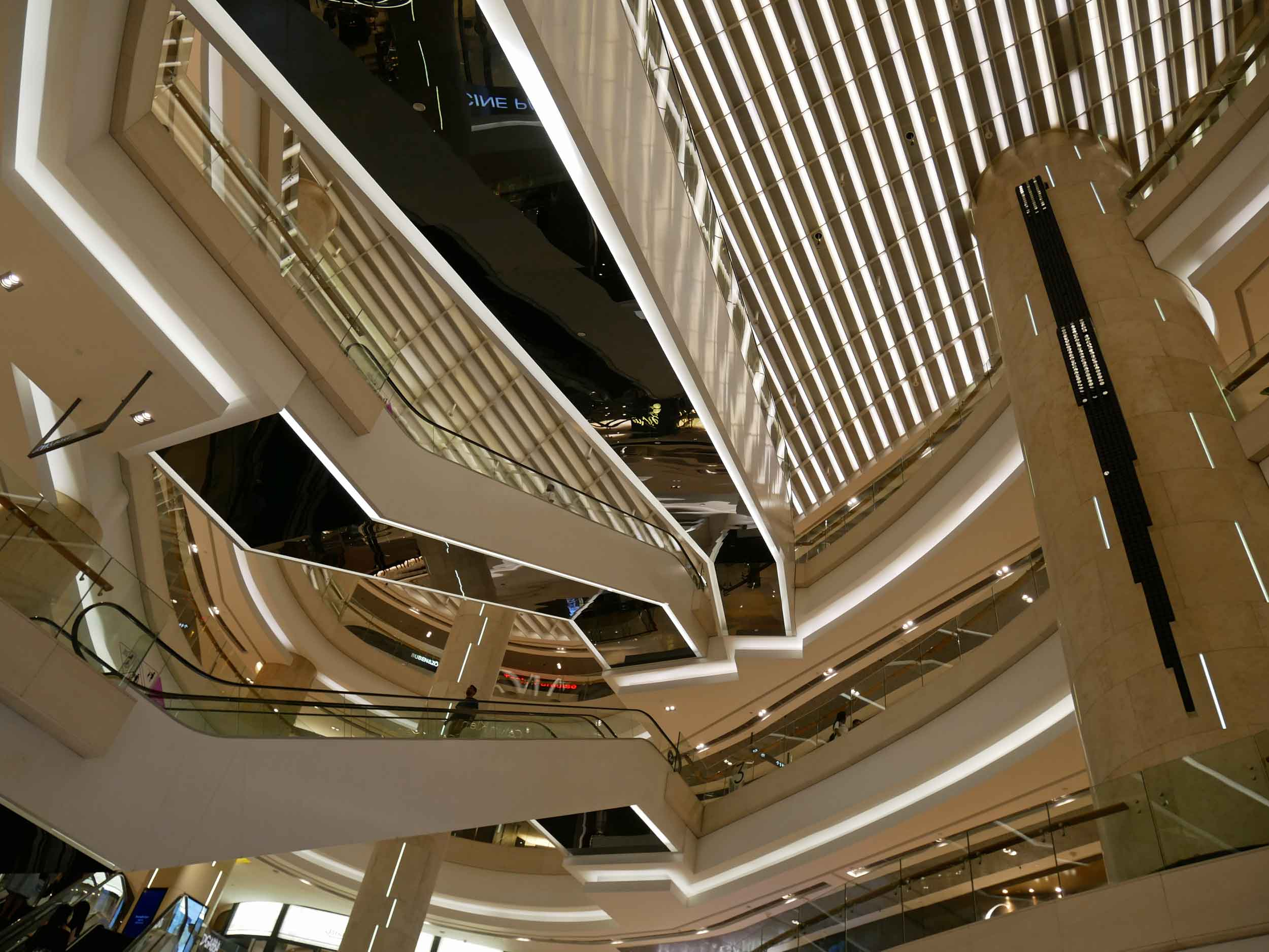 Don't look up! The dizzying inside of ION Orchard.