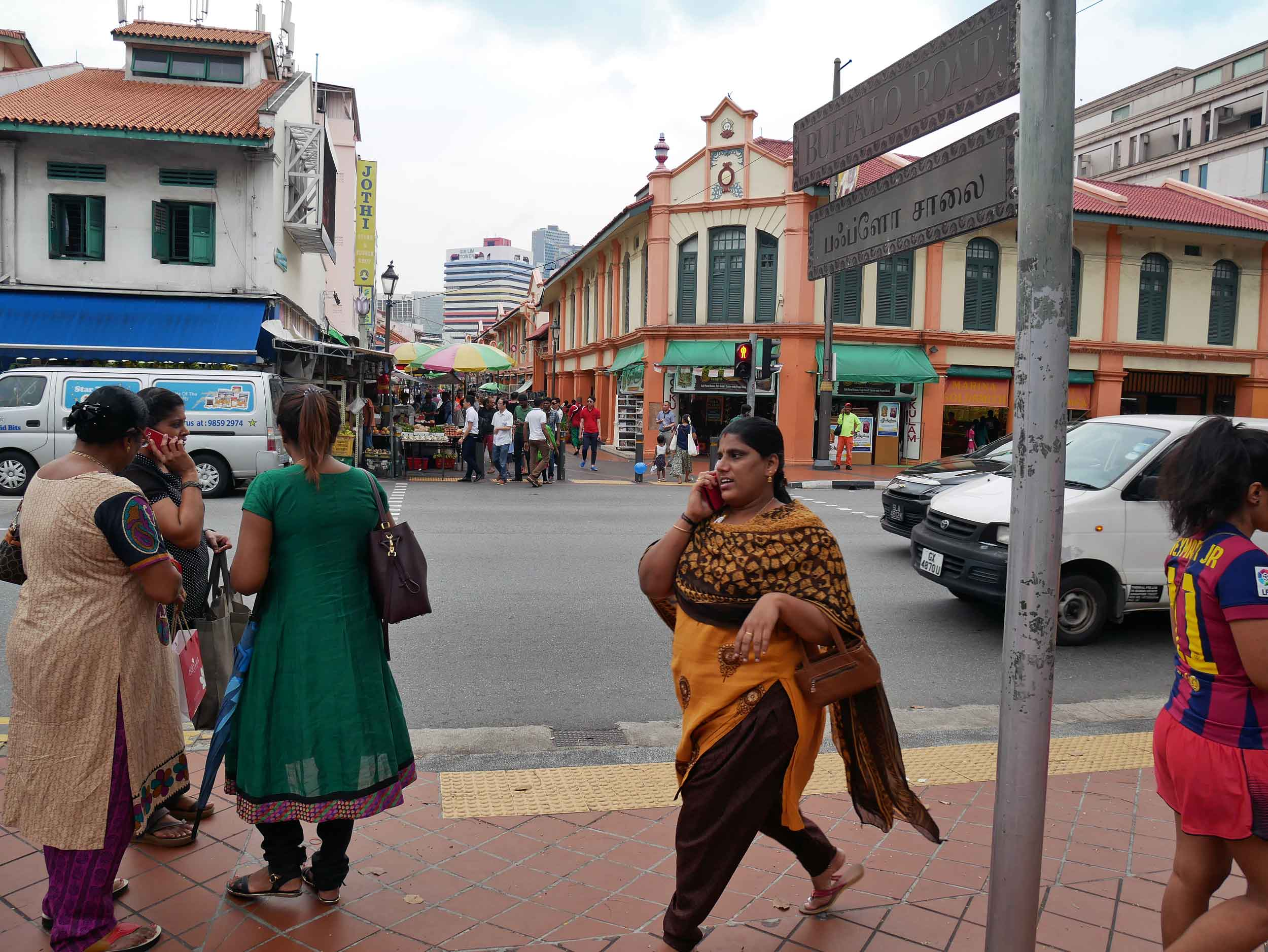 We were charmed by the vibrant colors and busy streets of Singapore's Little India.