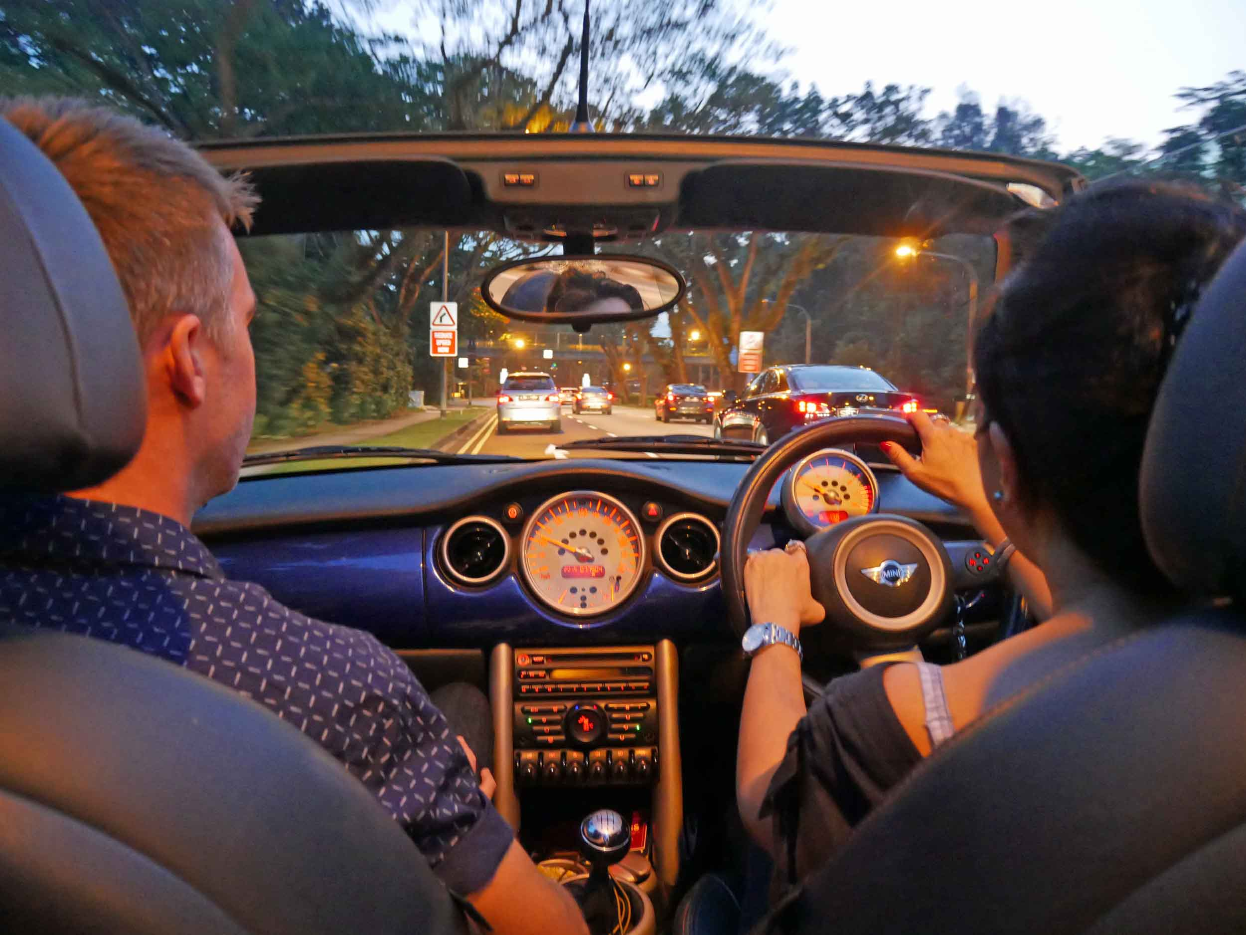 A convertible is a Singapore must-do, and thankfully our friend Fay offered to drive us around town to see the sights.