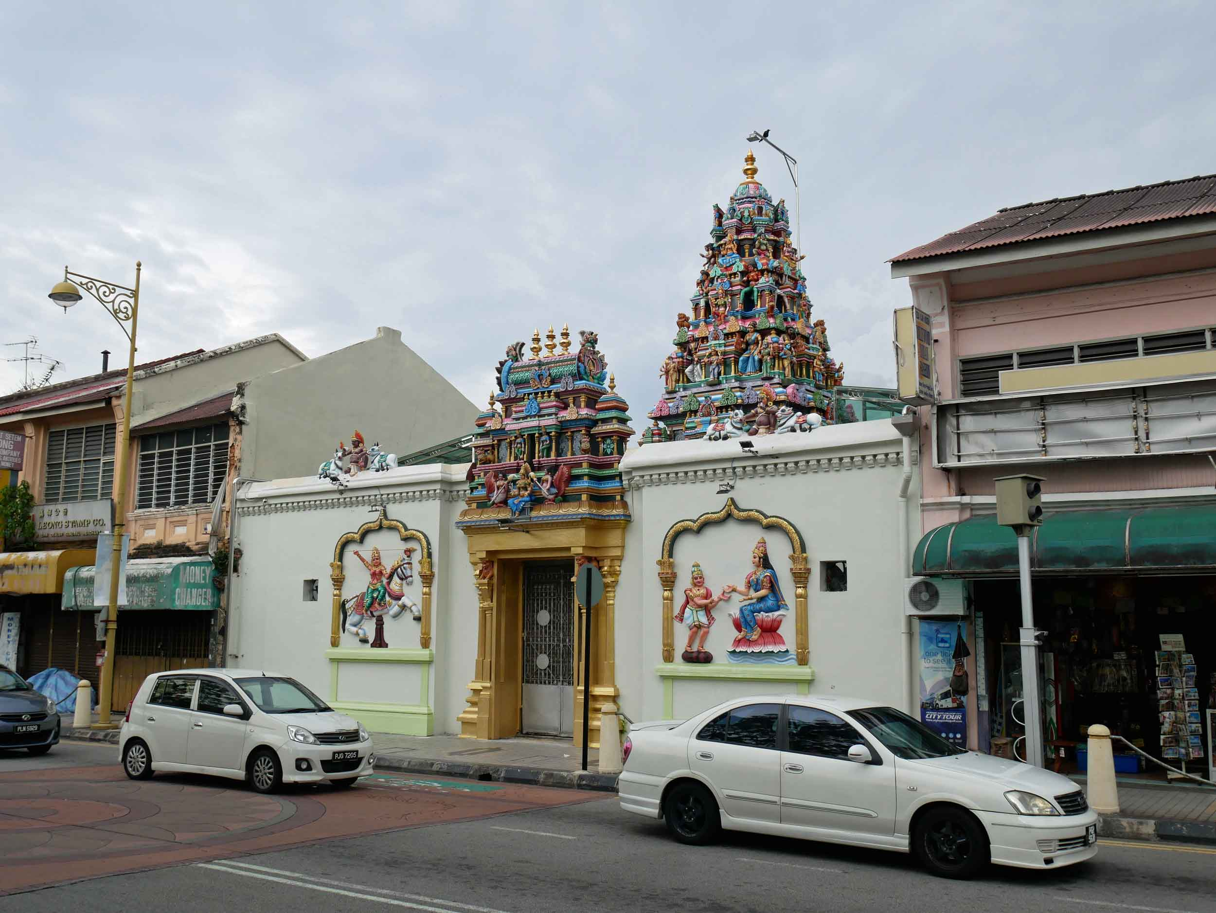 Sri Mahamariamman Temple, known locally as Queen Street Indian Temple, was also built in the 1800s and anchors the area's Little India.
