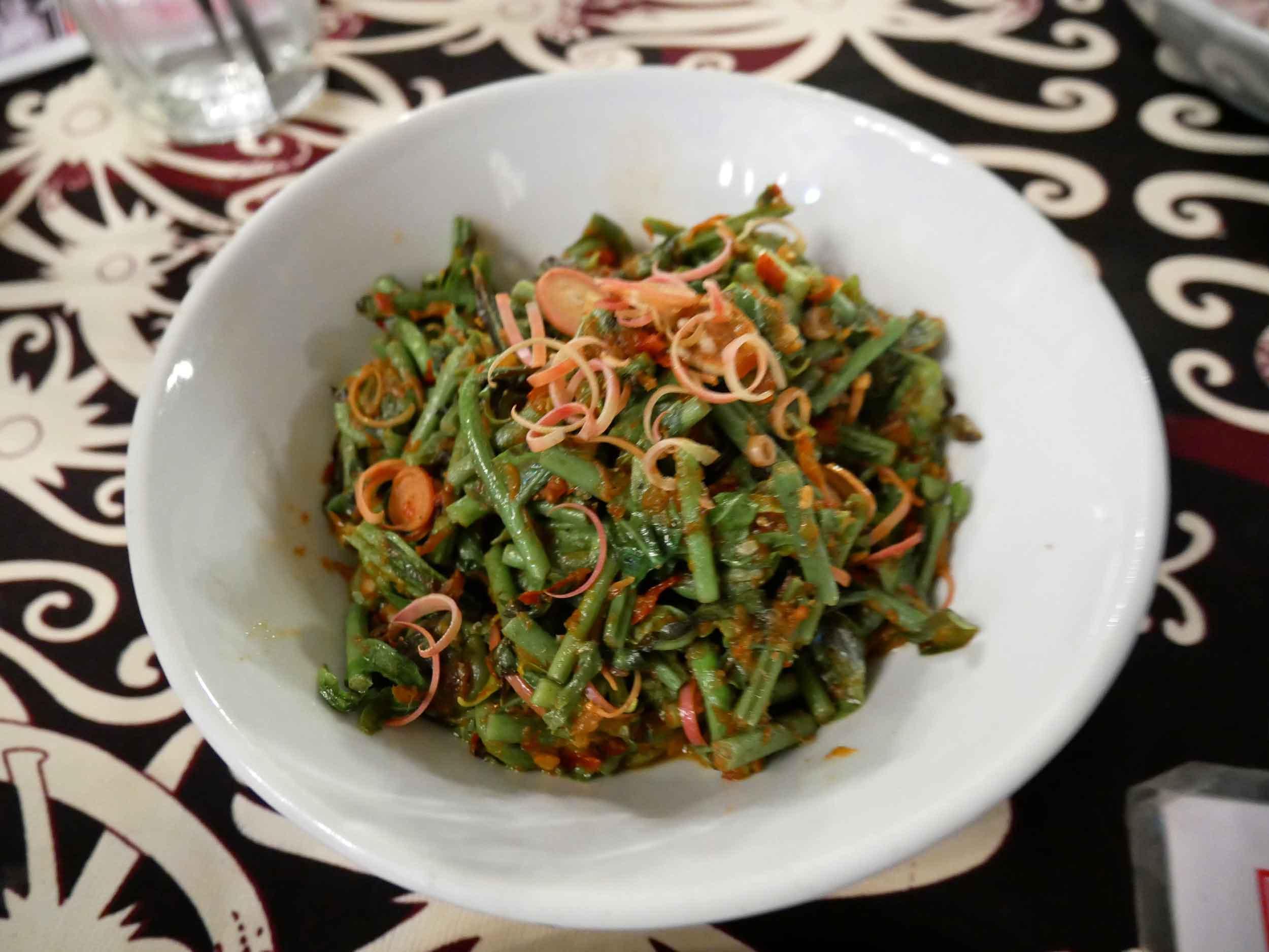 Spicy and bitter, the  stir fried fiddlehead ferns at The Dyak were a Malay take on the now trendy dish.