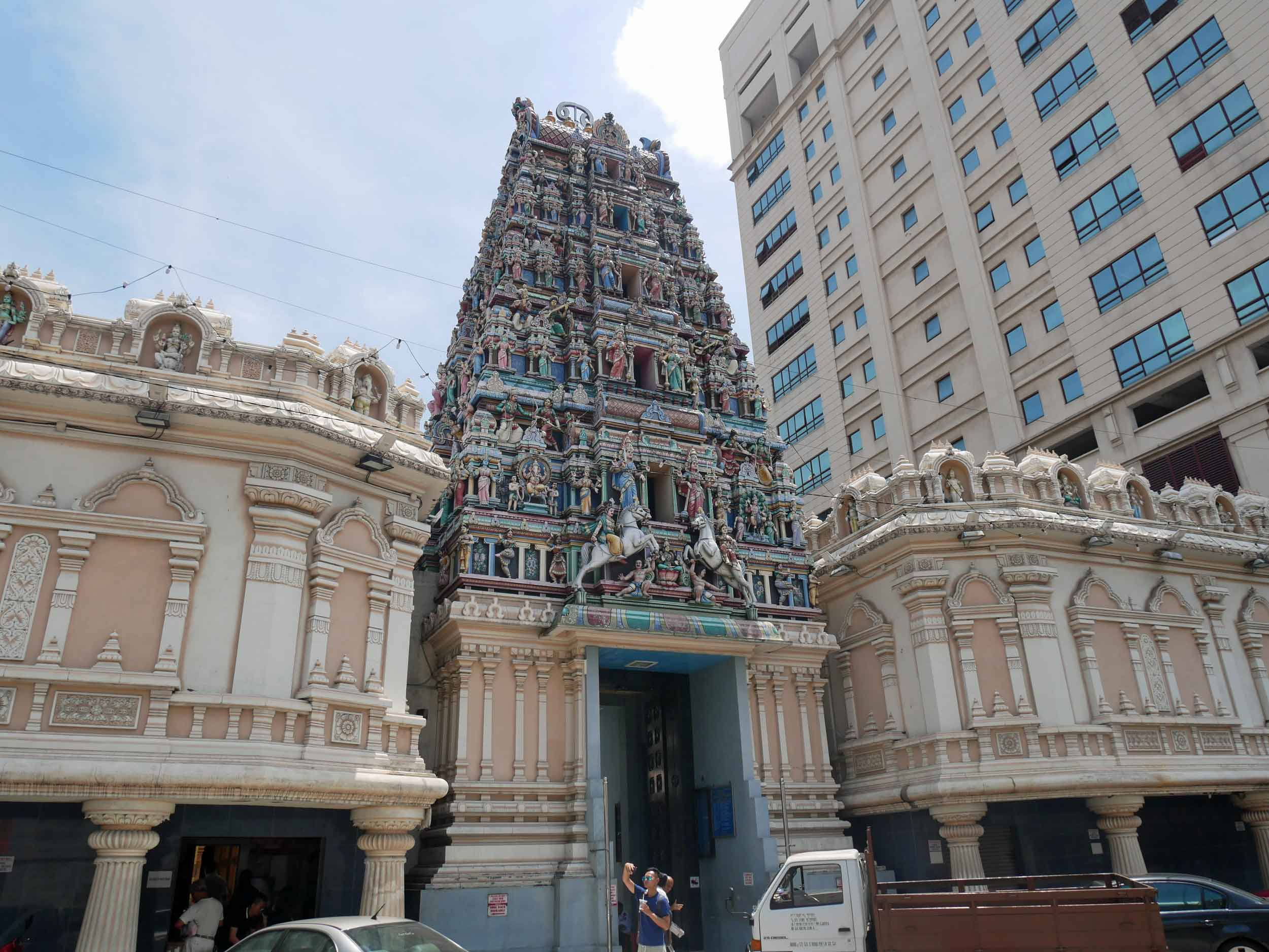 On the edge of Chinatown, sits KL's oldest Hindu temple, Sri Mahamariamman, built in the late 1800s.