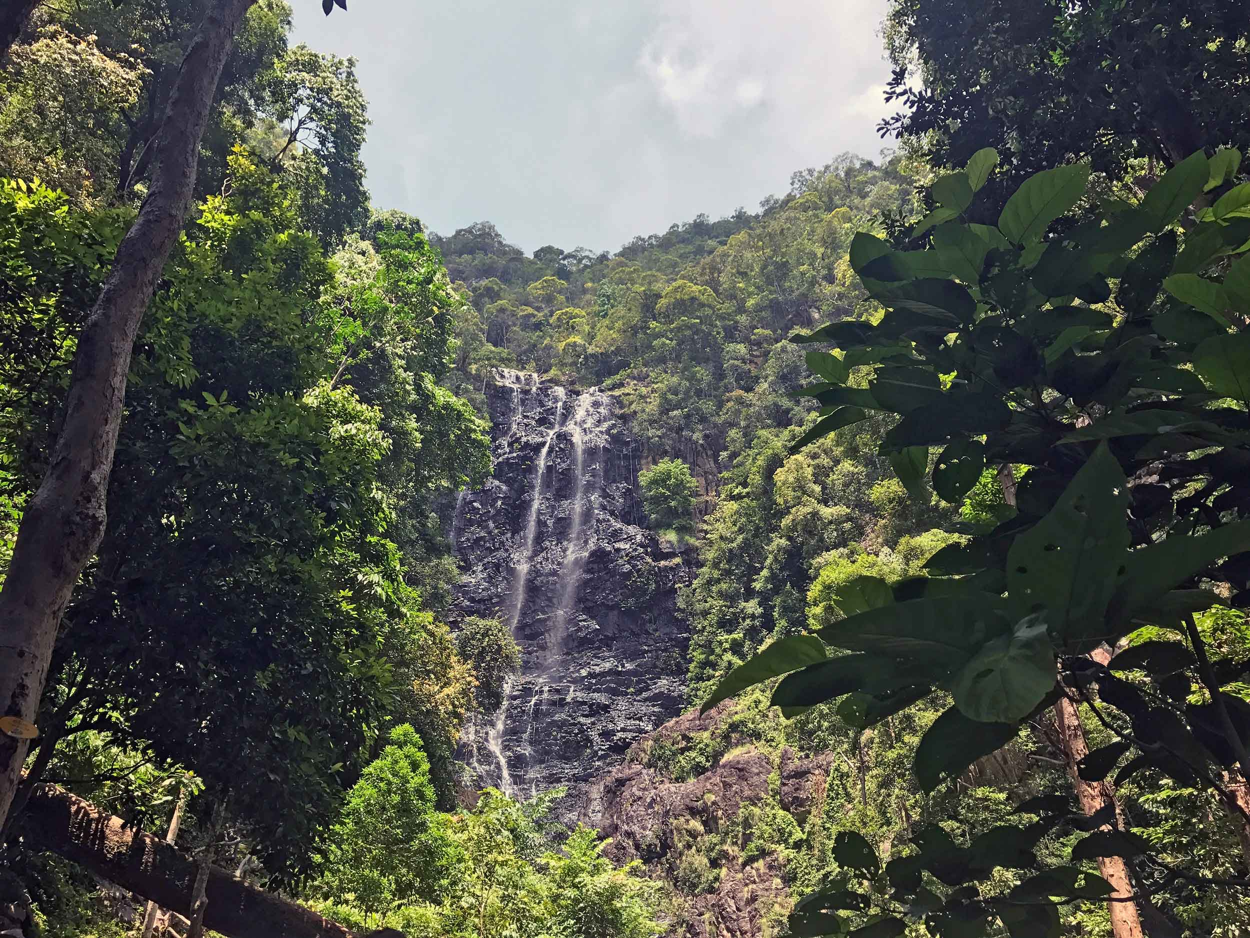 Another one of Langkawi's falls, towering Air Terjun Temurun was still impressive even during the island's dry season.