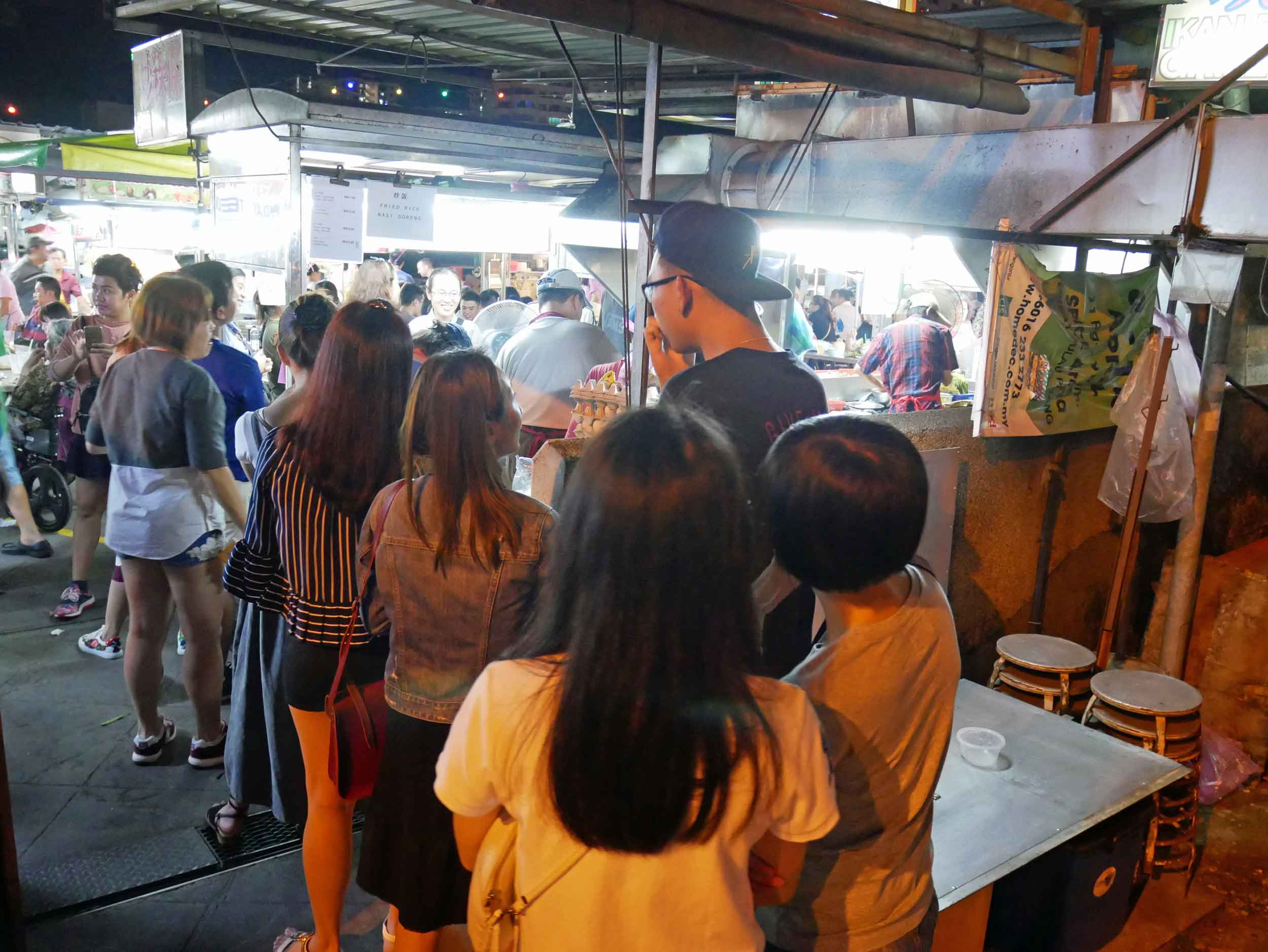 After China House, we once again hit the streets, this time at the famous Gurney Drive hawker stalls.