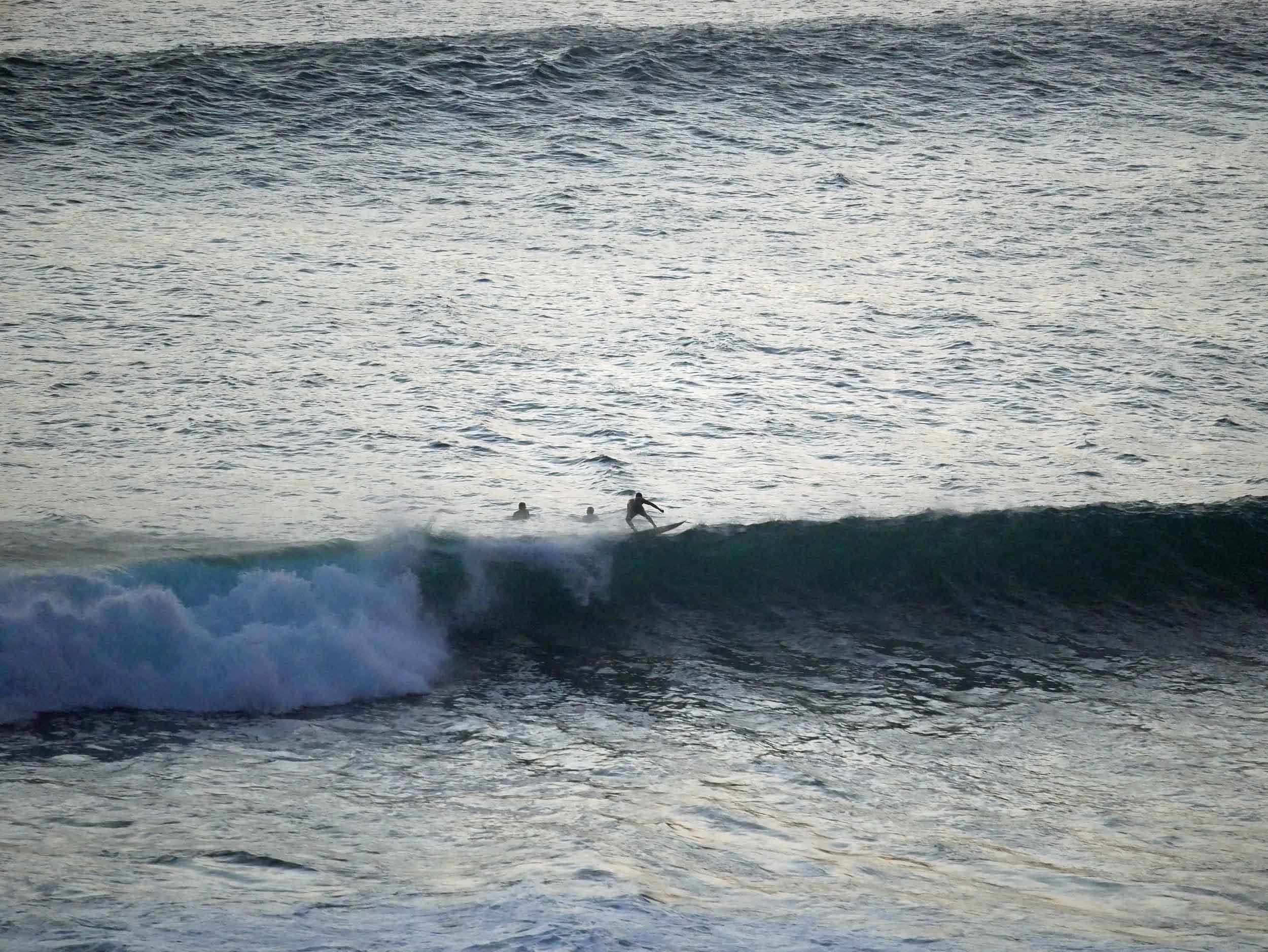 Uluwatu is also very well known for its powerful waves, but here surfing is mostly left to the professionals (June 6).