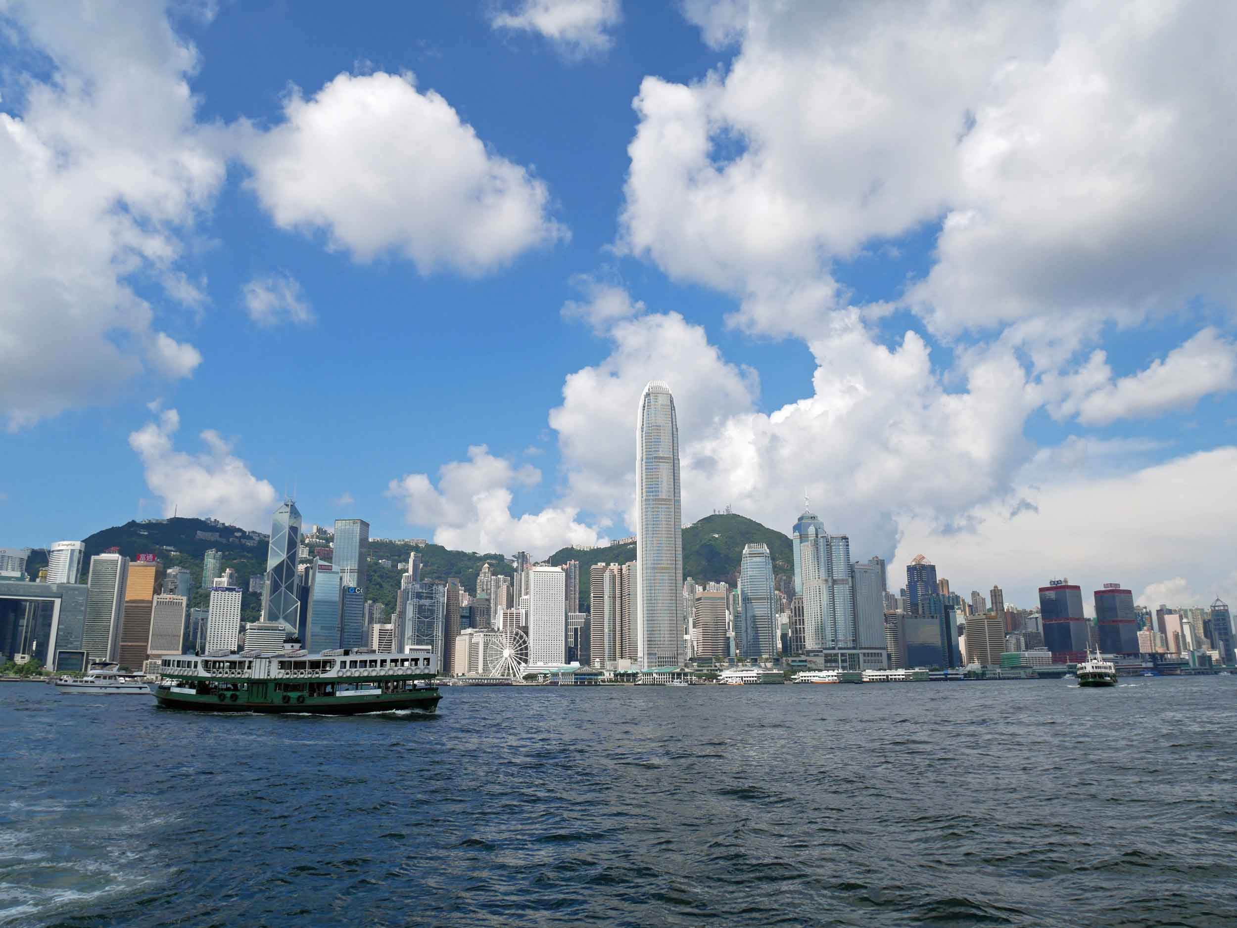 The Park also provided excellent views of Kowloon's skyline.
