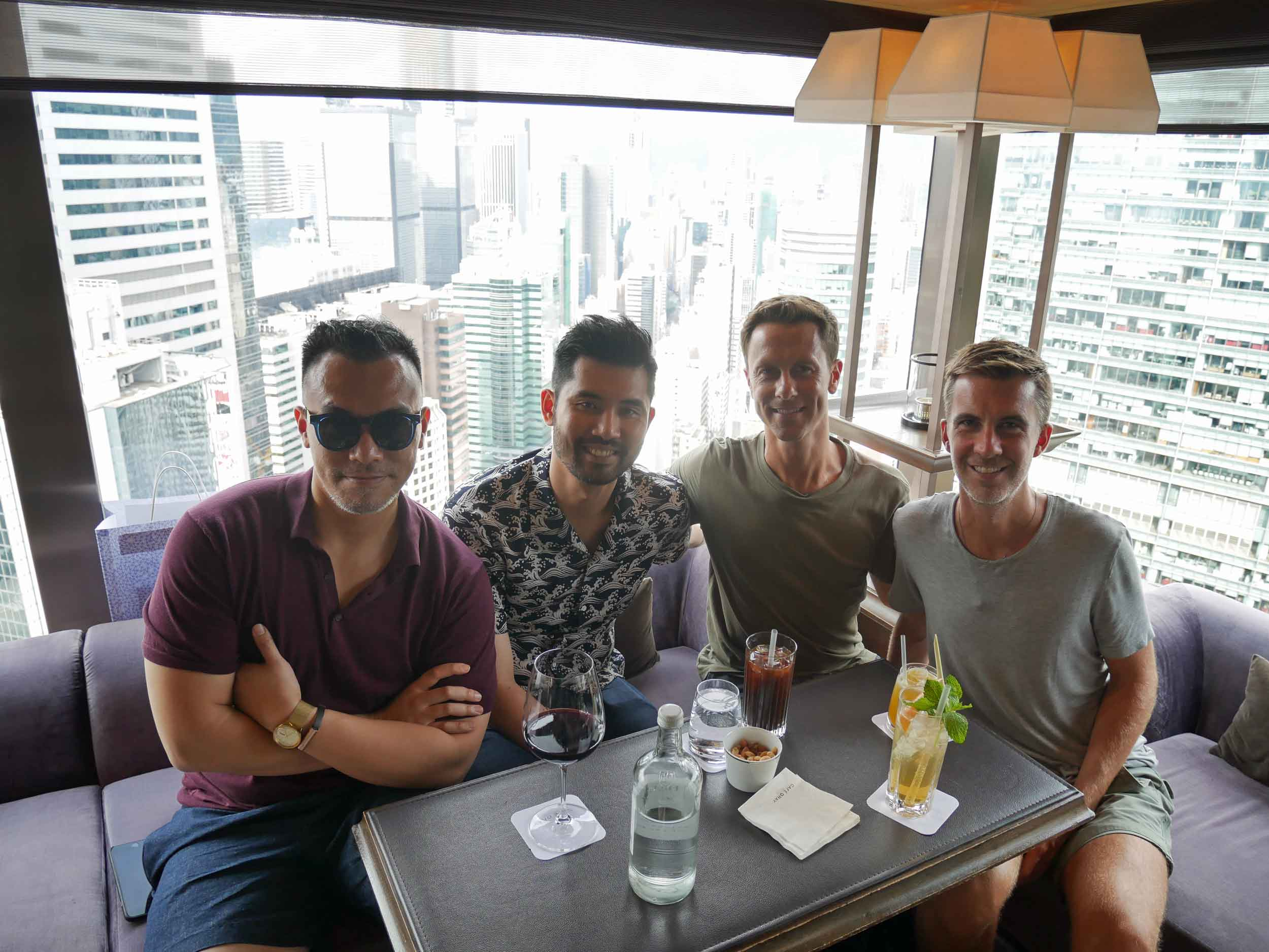 To cap off the fun day, we toasted high above the skyline at Upper House's chic bar.