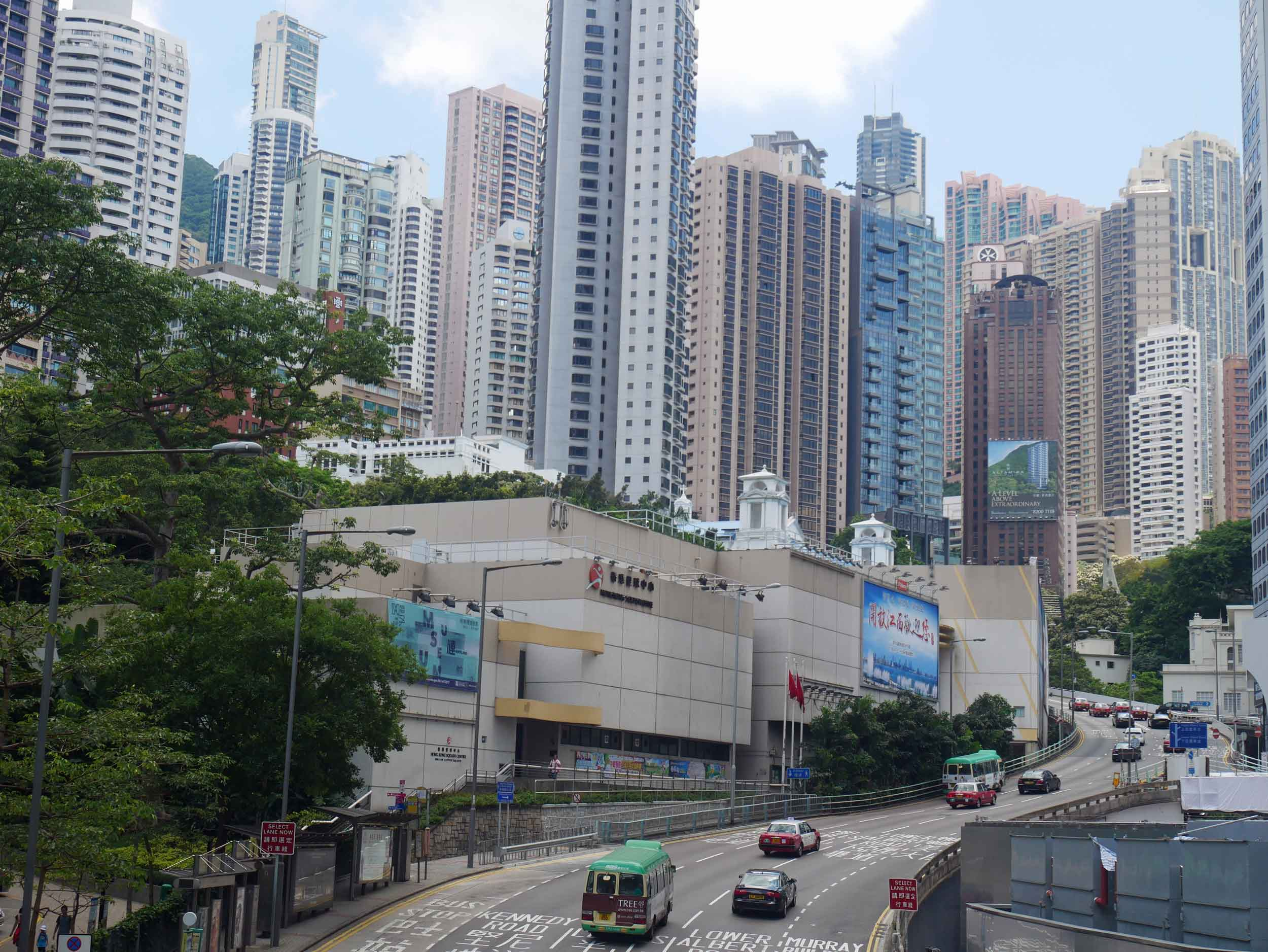 The view looking into the city as we crossed into Hong Kong Park.